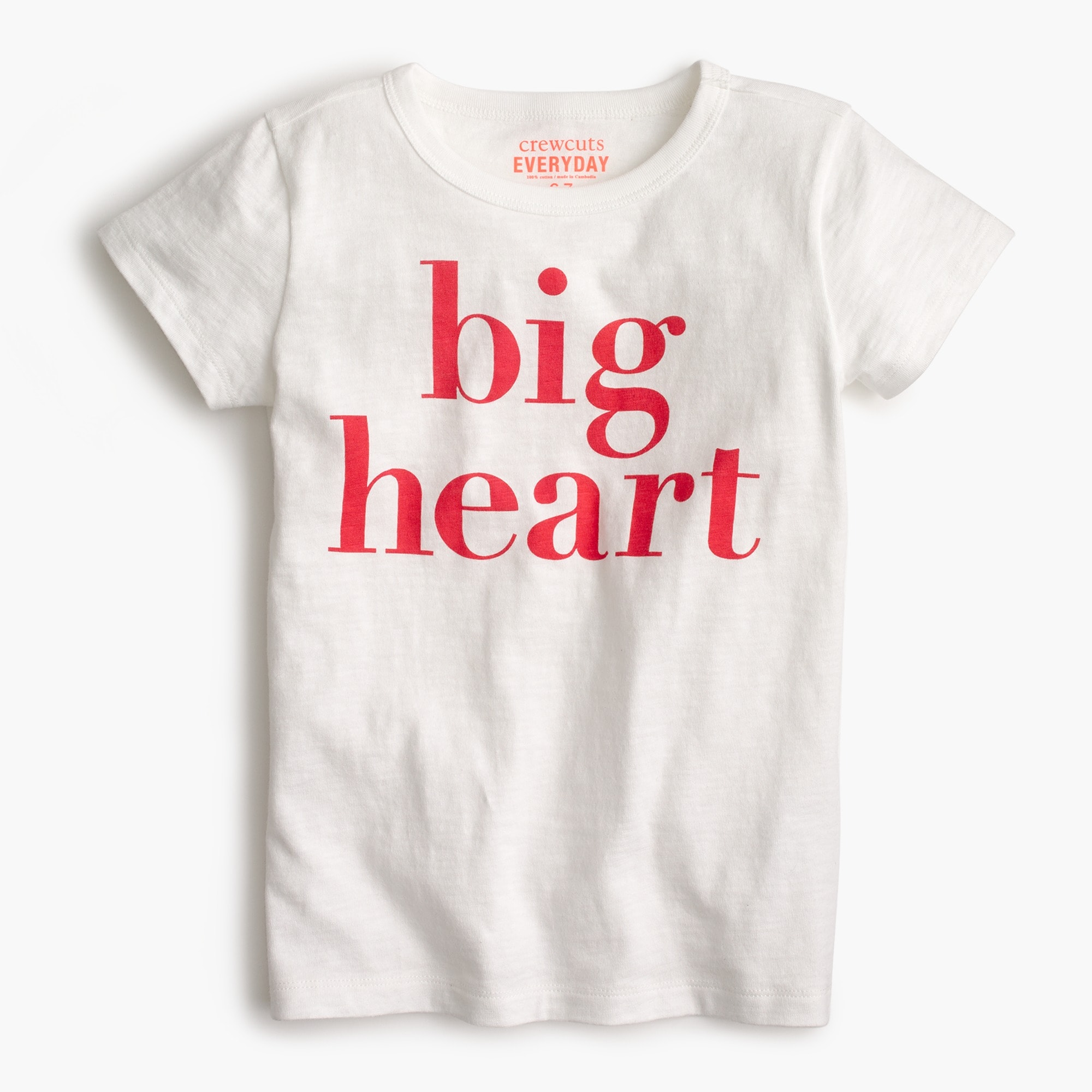 "Girls' ""big heart"" T-shirt girl new arrivals c"