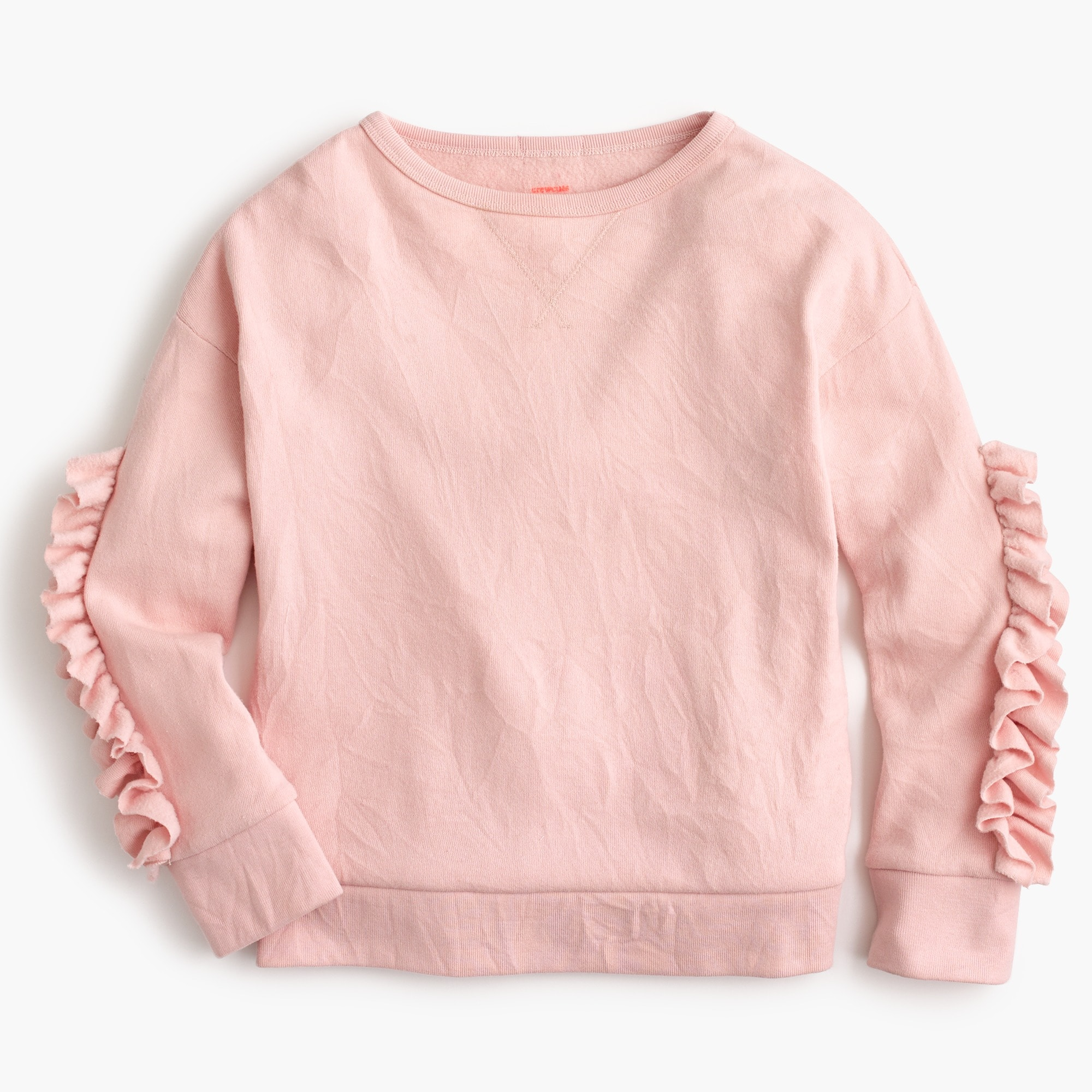 Girls' ruffle-trimmed sweatshirt girl new arrivals c