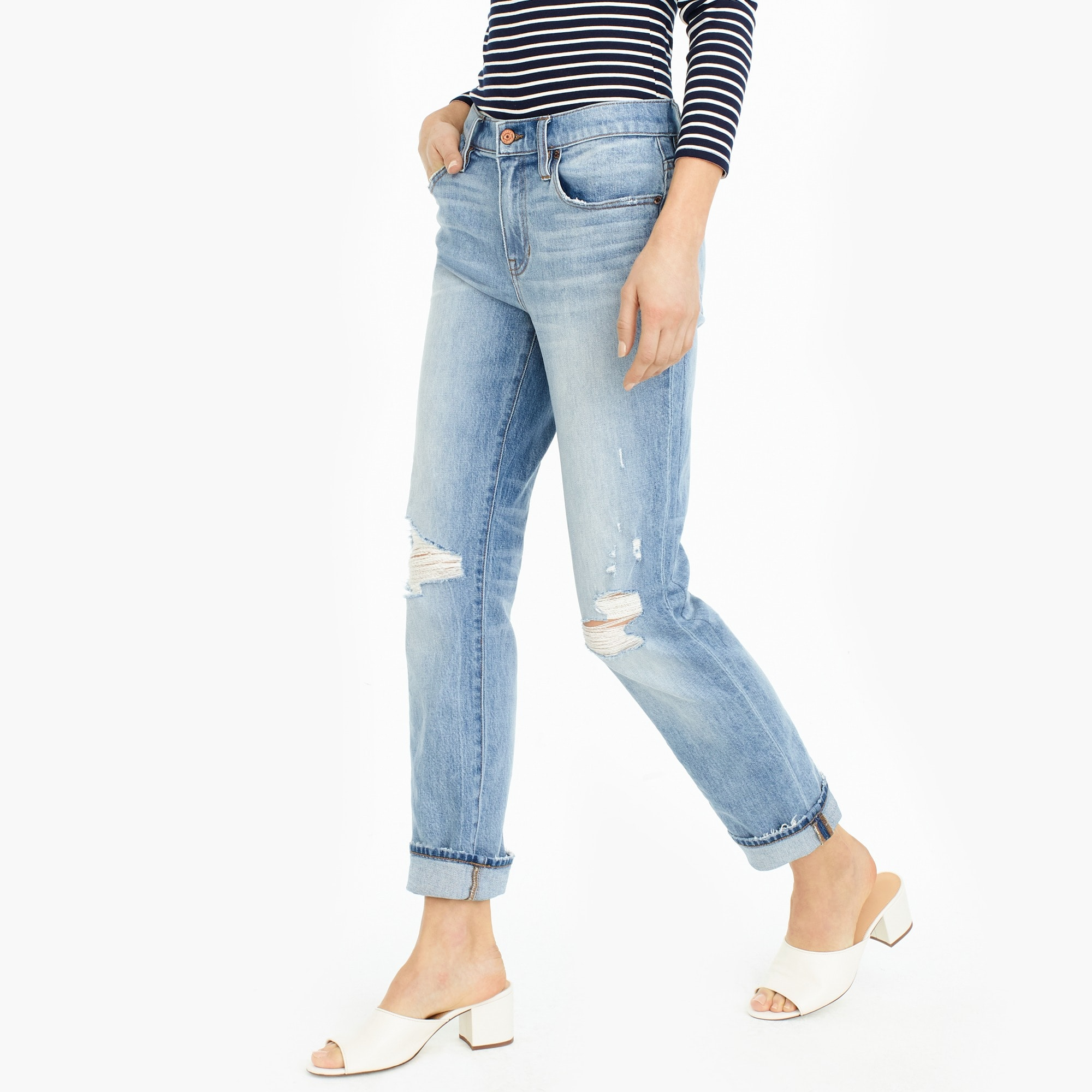 Image 1 for Slim boyfriend jean in Cedar wash