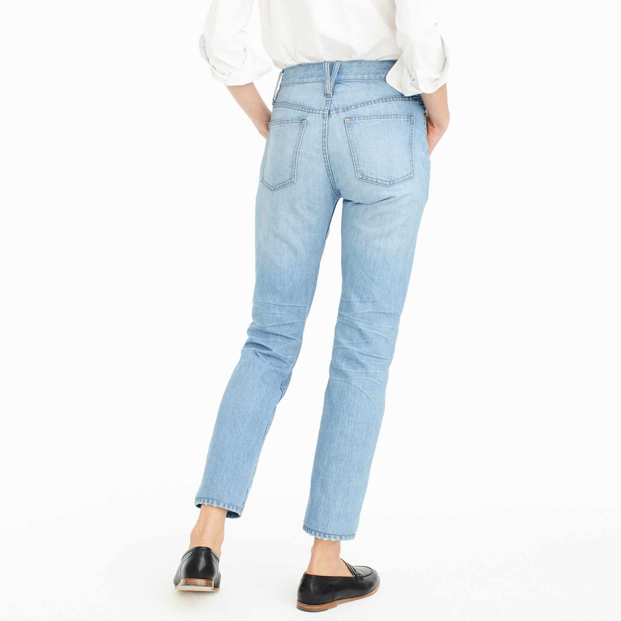 Petite Point Sur high-rise retro straight jean