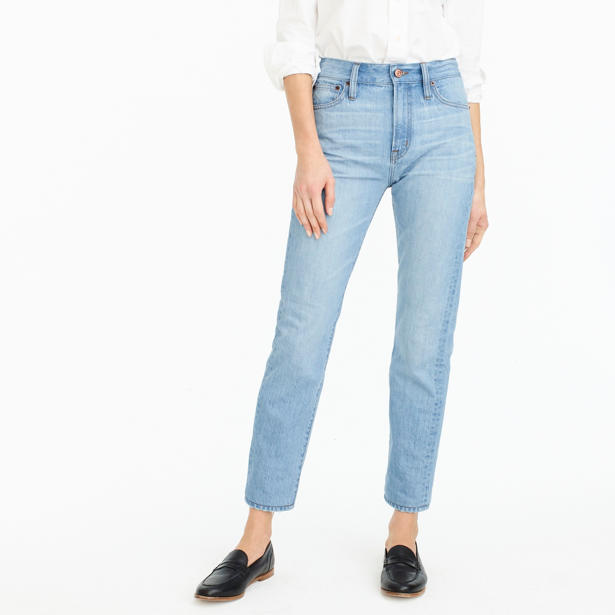 womens Petite Point Sur high-rise retro straight jean