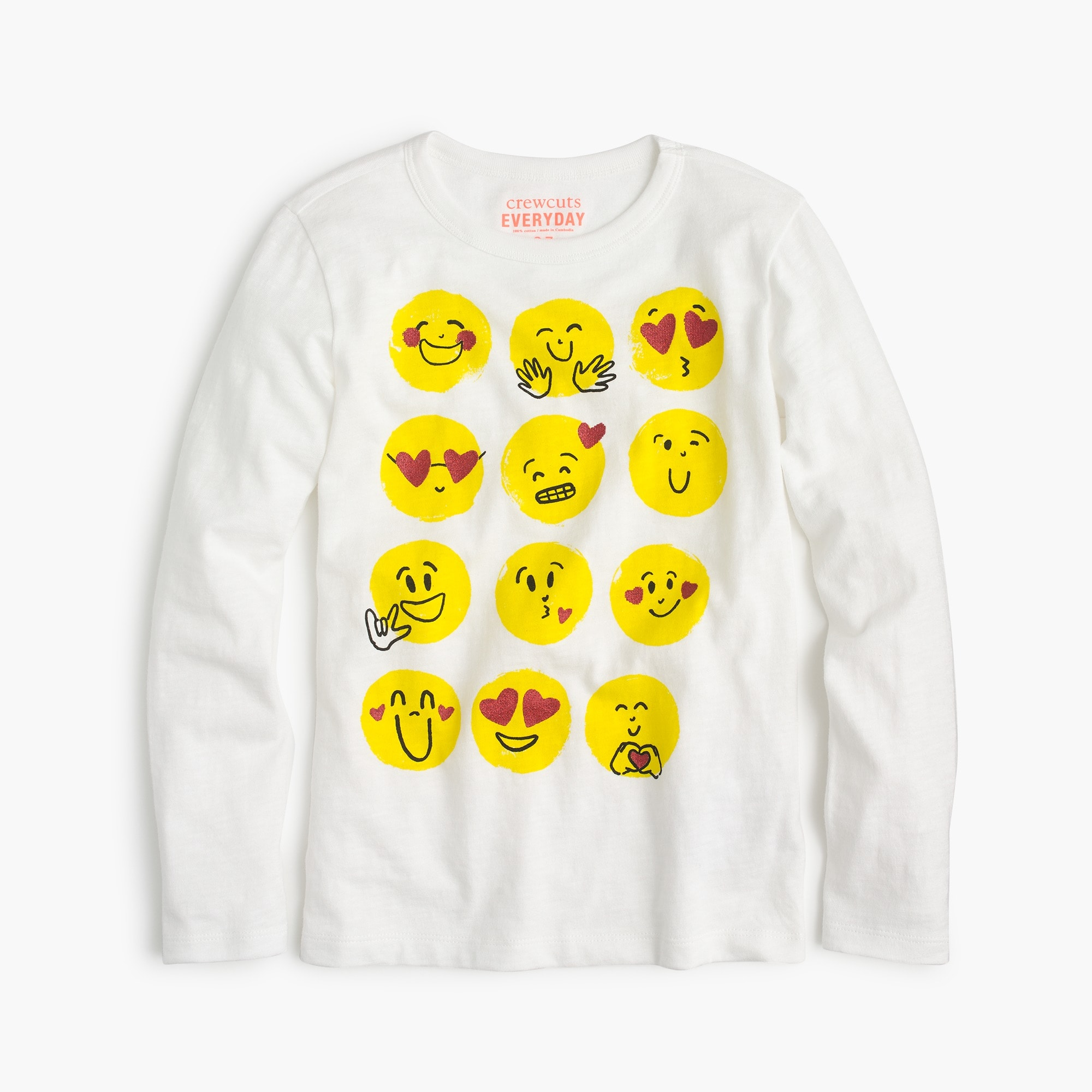 Image 1 for Girl's multi-emoji T-shirt