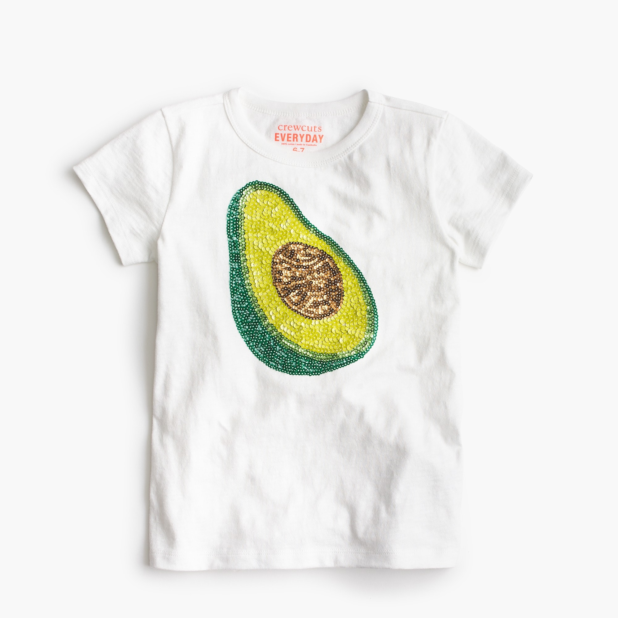 Girls' avocado T-shirt girl new arrivals c