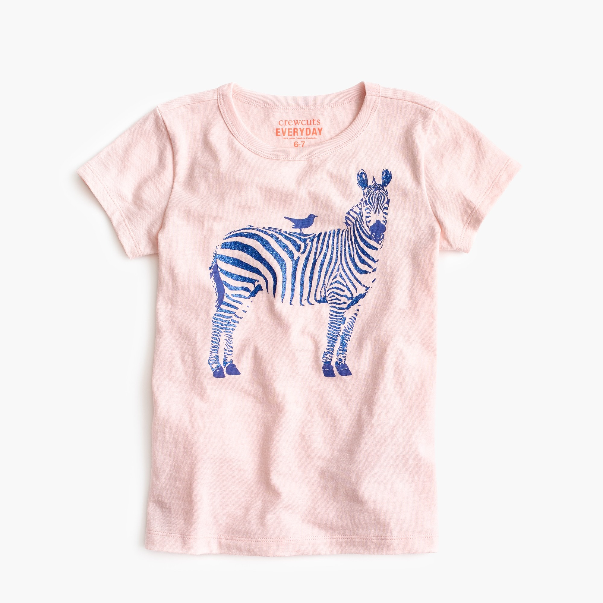 Girls' zebra T-shirt girl new arrivals c