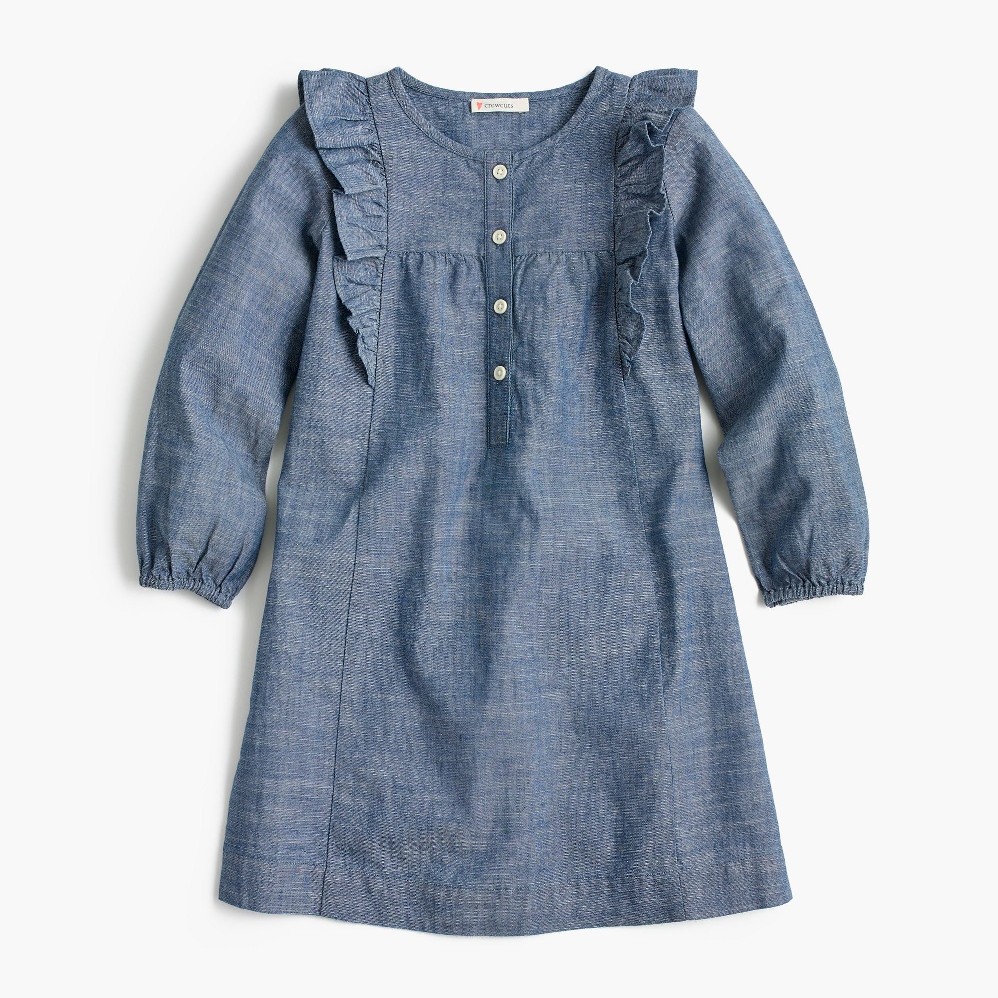 Girls' chambray dress girl new arrivals c