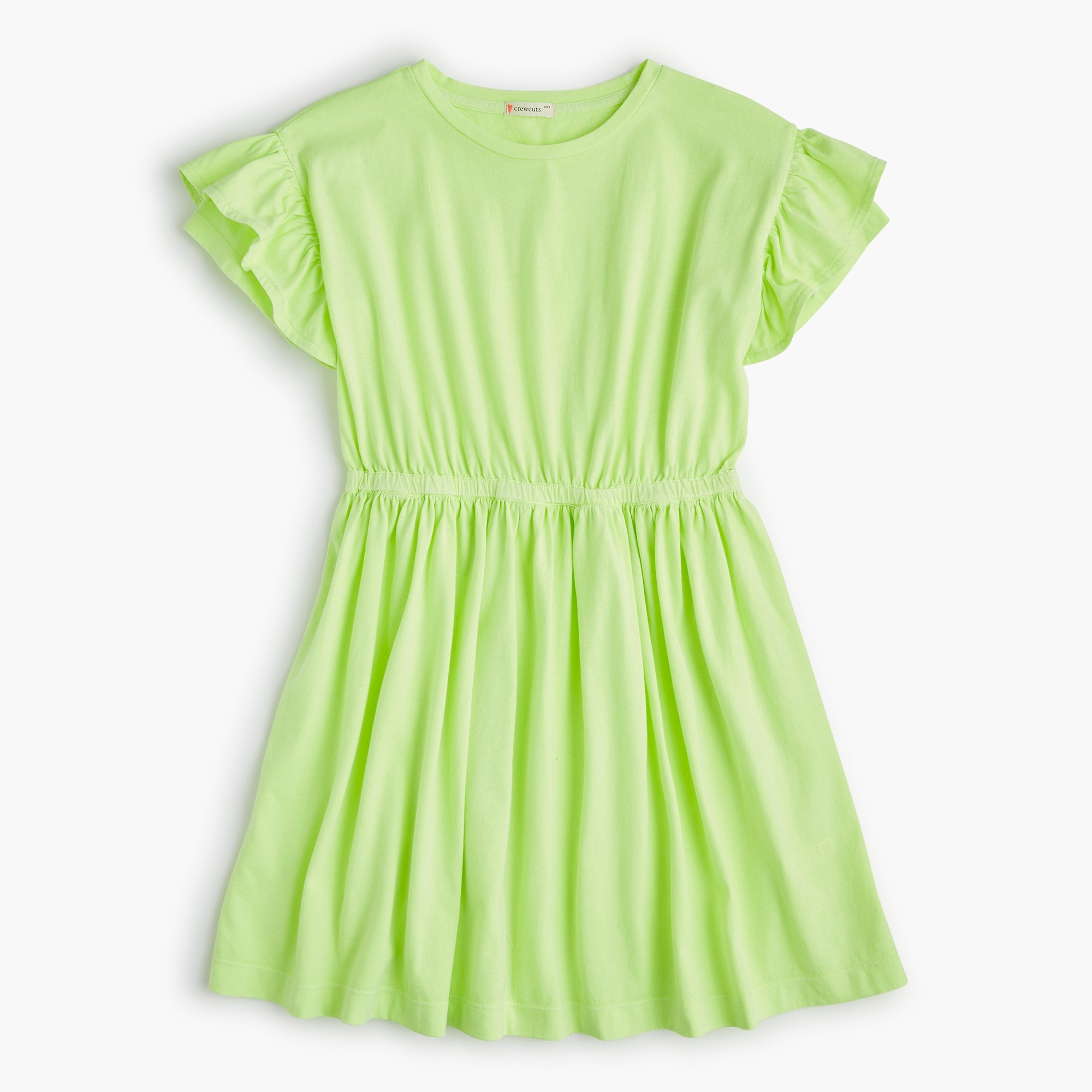 Girls' flutter-sleeve dress girl new arrivals c