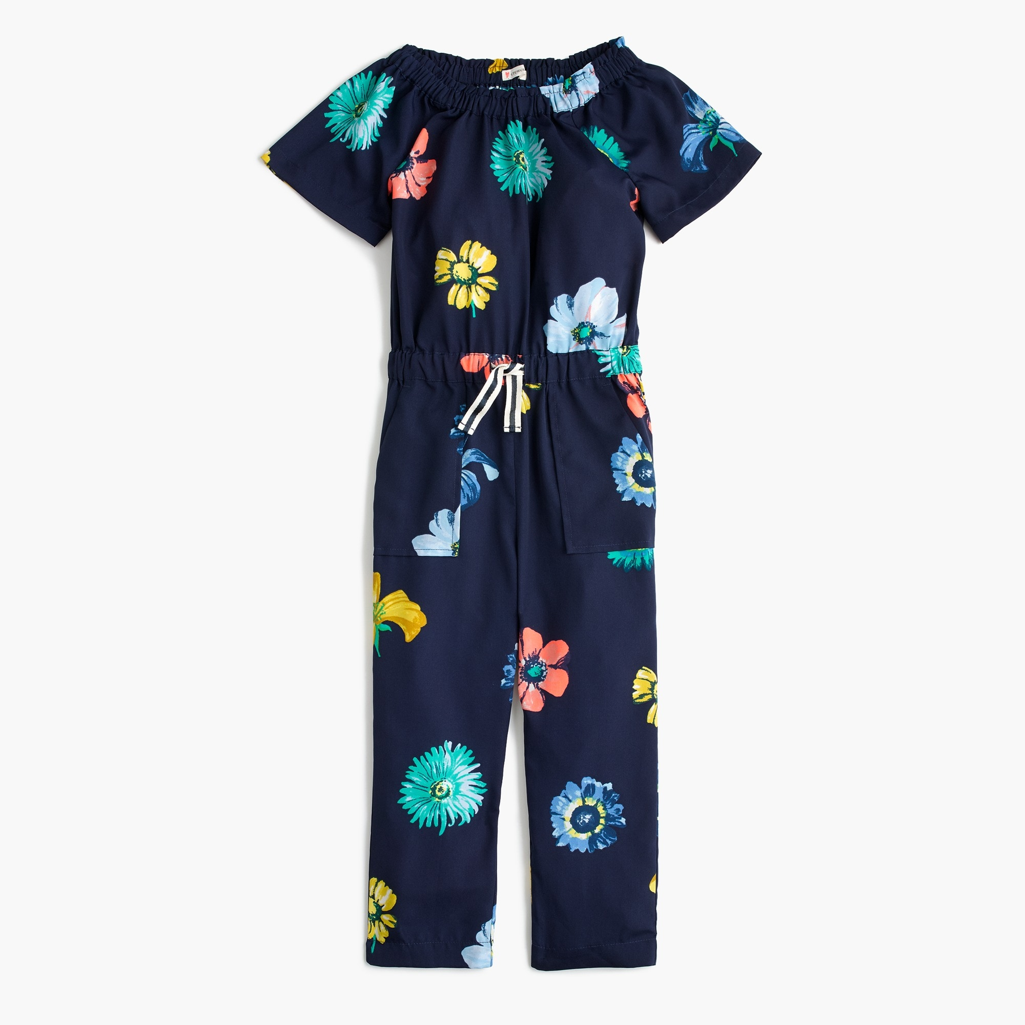 Girls' floral jumpsuit