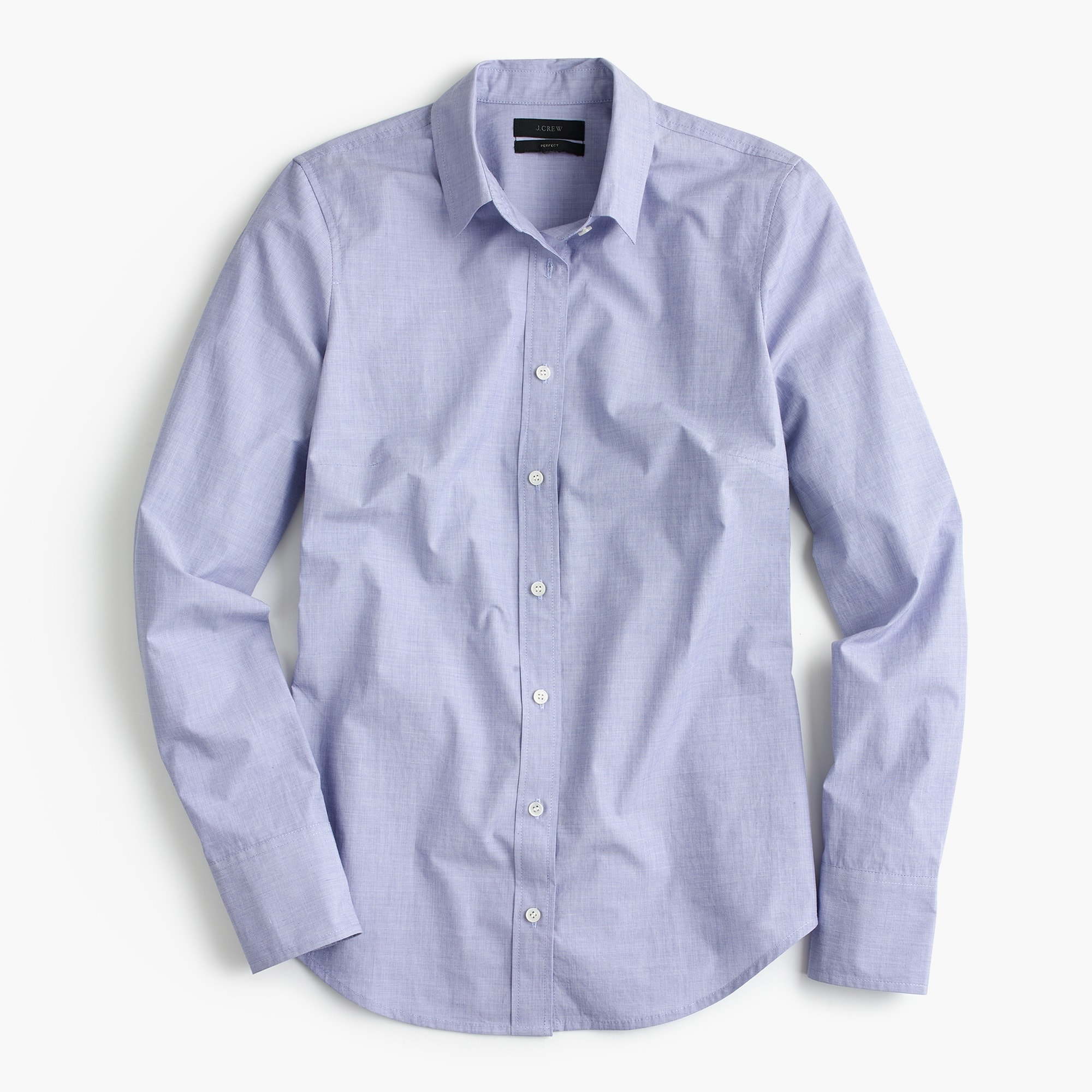 Slim perfect shirt in end-on-end cotton