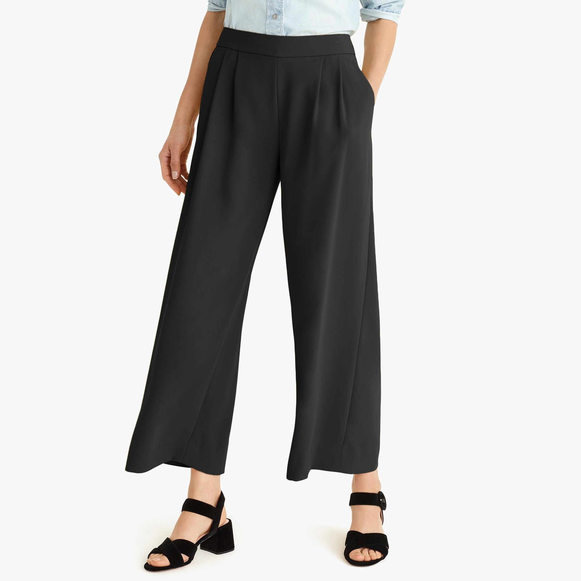 womens Wide-leg crop pant in 365 crepe