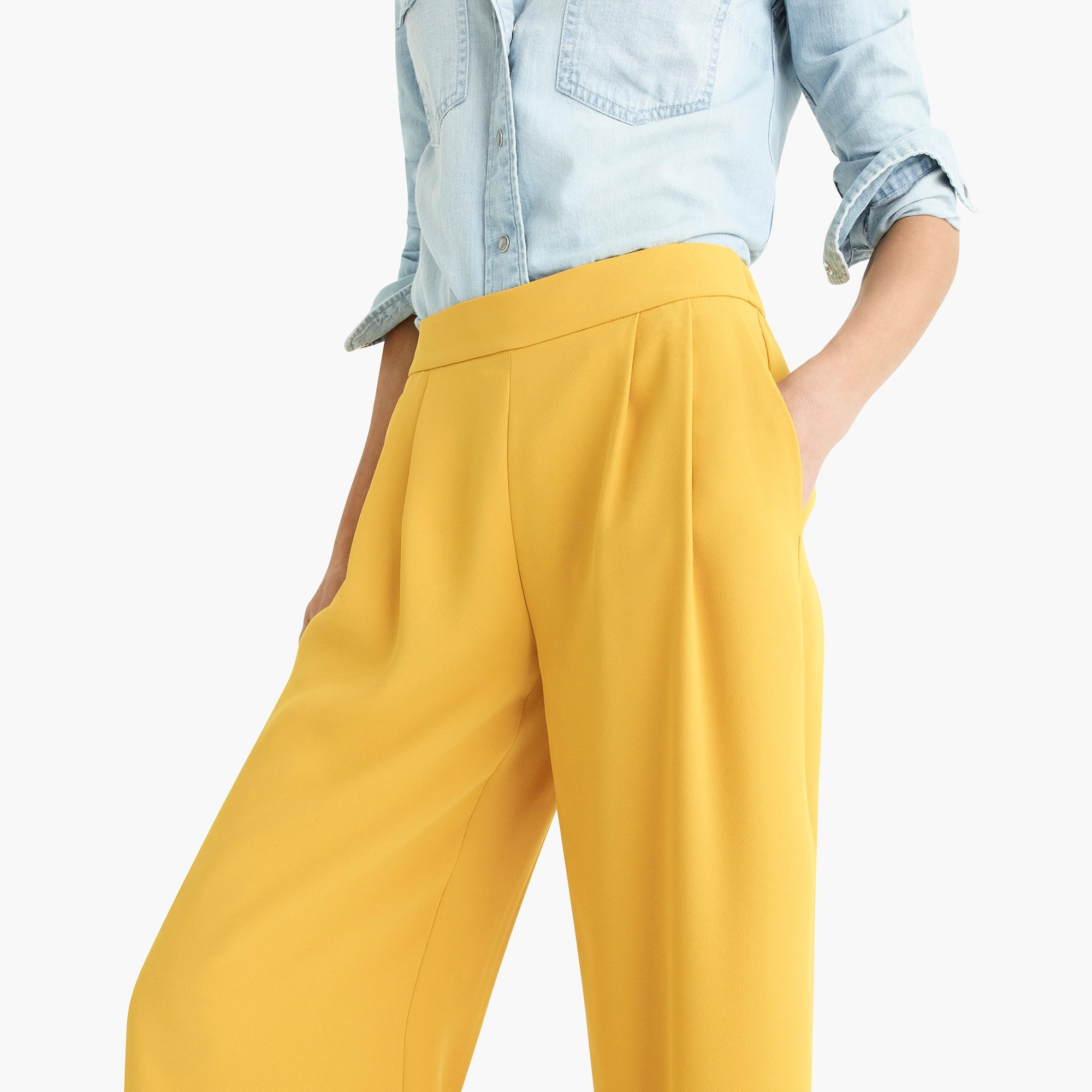 Petite wide-leg crop pant in 365 crepe