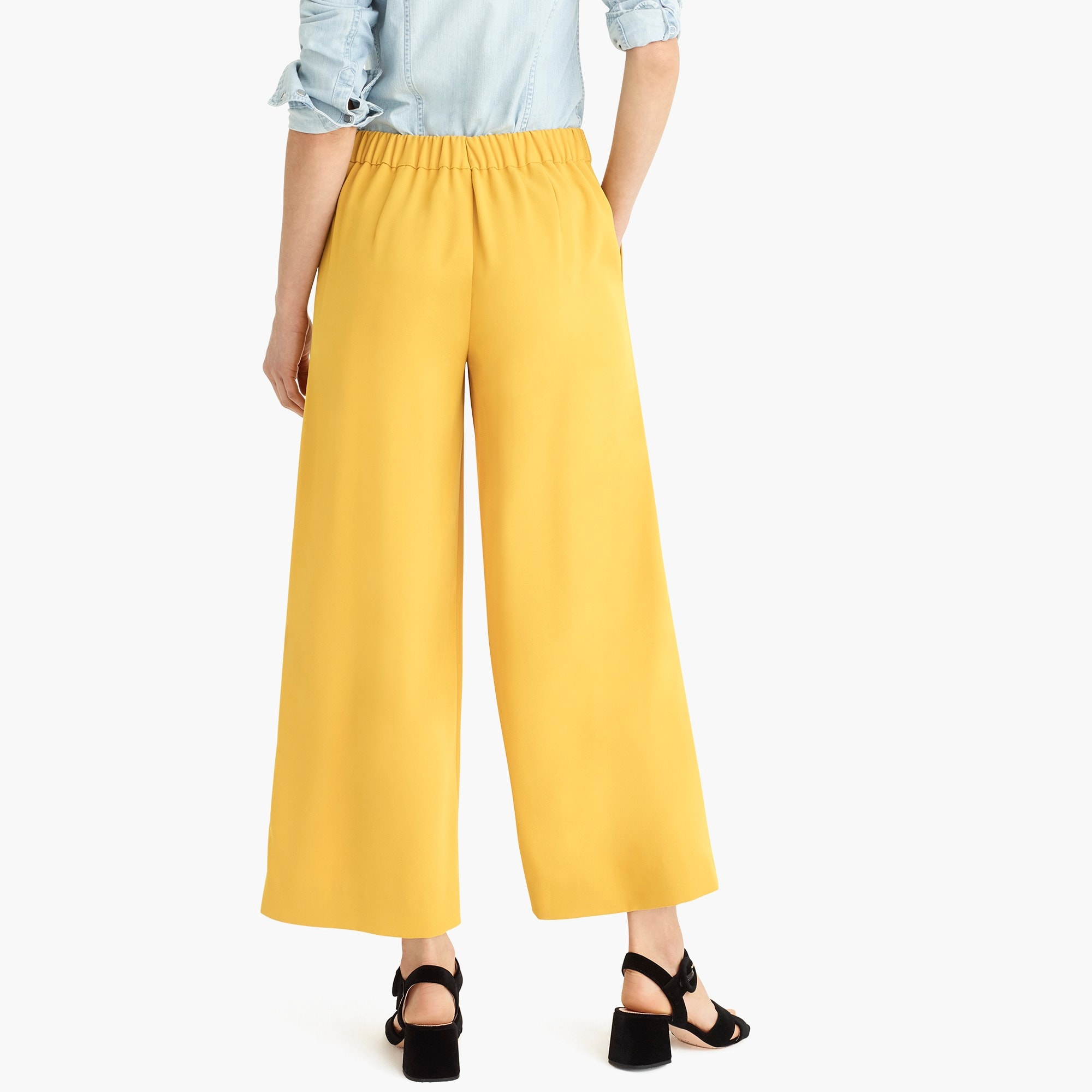 Image 6 for Petite wide-leg crop pant in 365 crepe