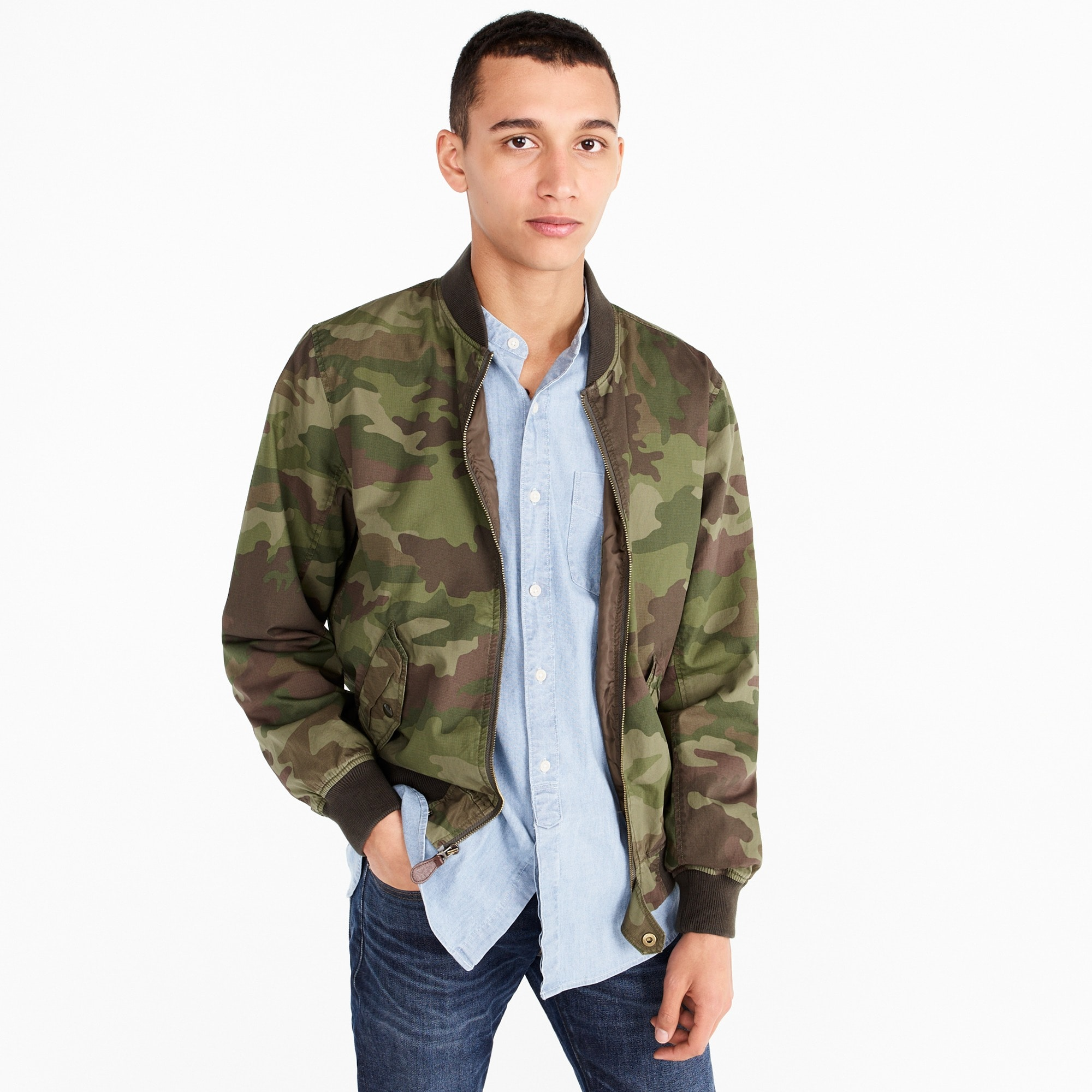men's wallace & barnes ma-1 bomber jacket in camo - men's outerwear & jackets