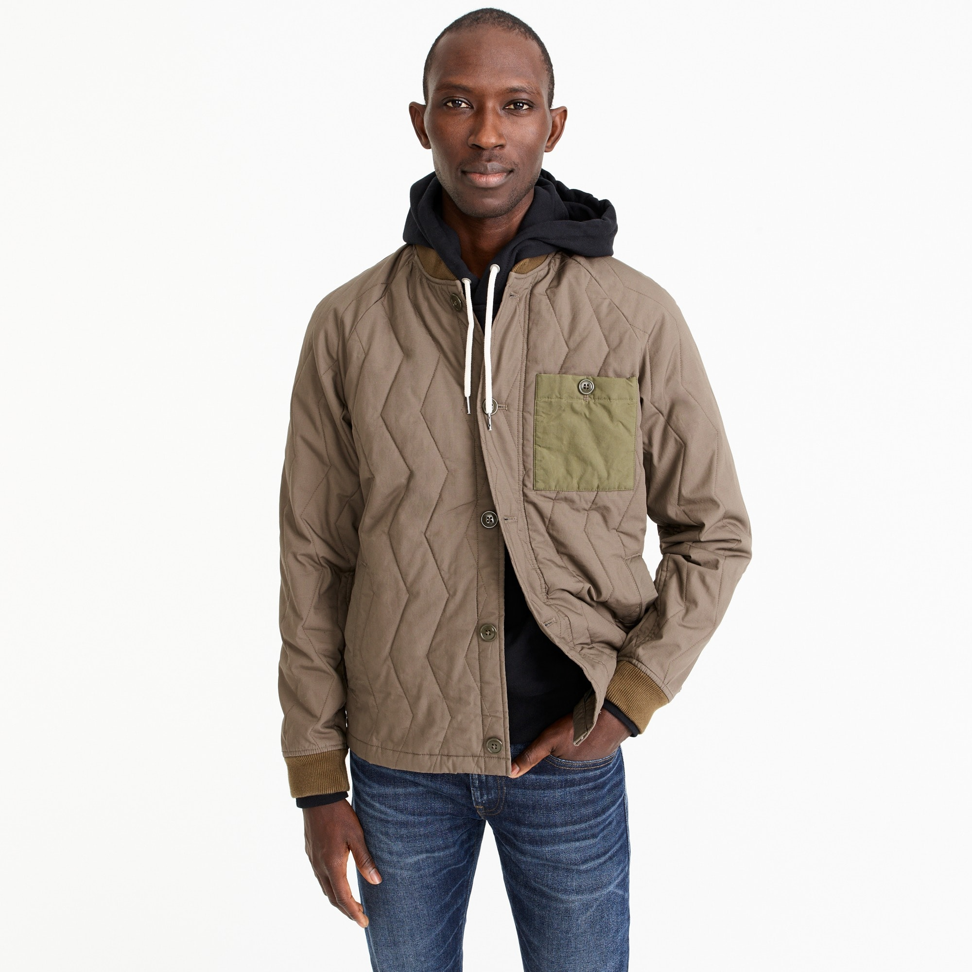 Quilted jacket in ripstop cotton men coats & jackets c