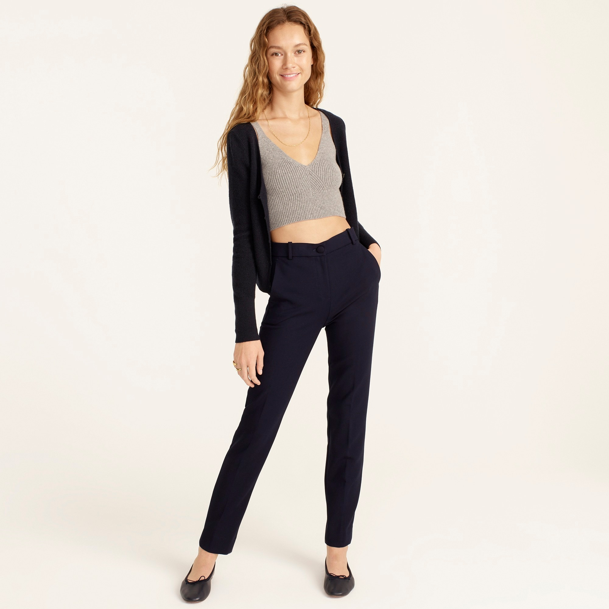 High-rise Cameron pant in four-season stretch women suiting c