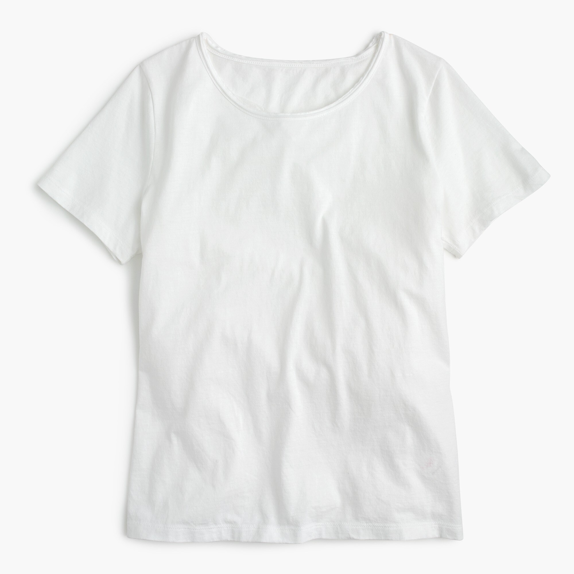 Supersoft Supima® raw-edge T-shirt