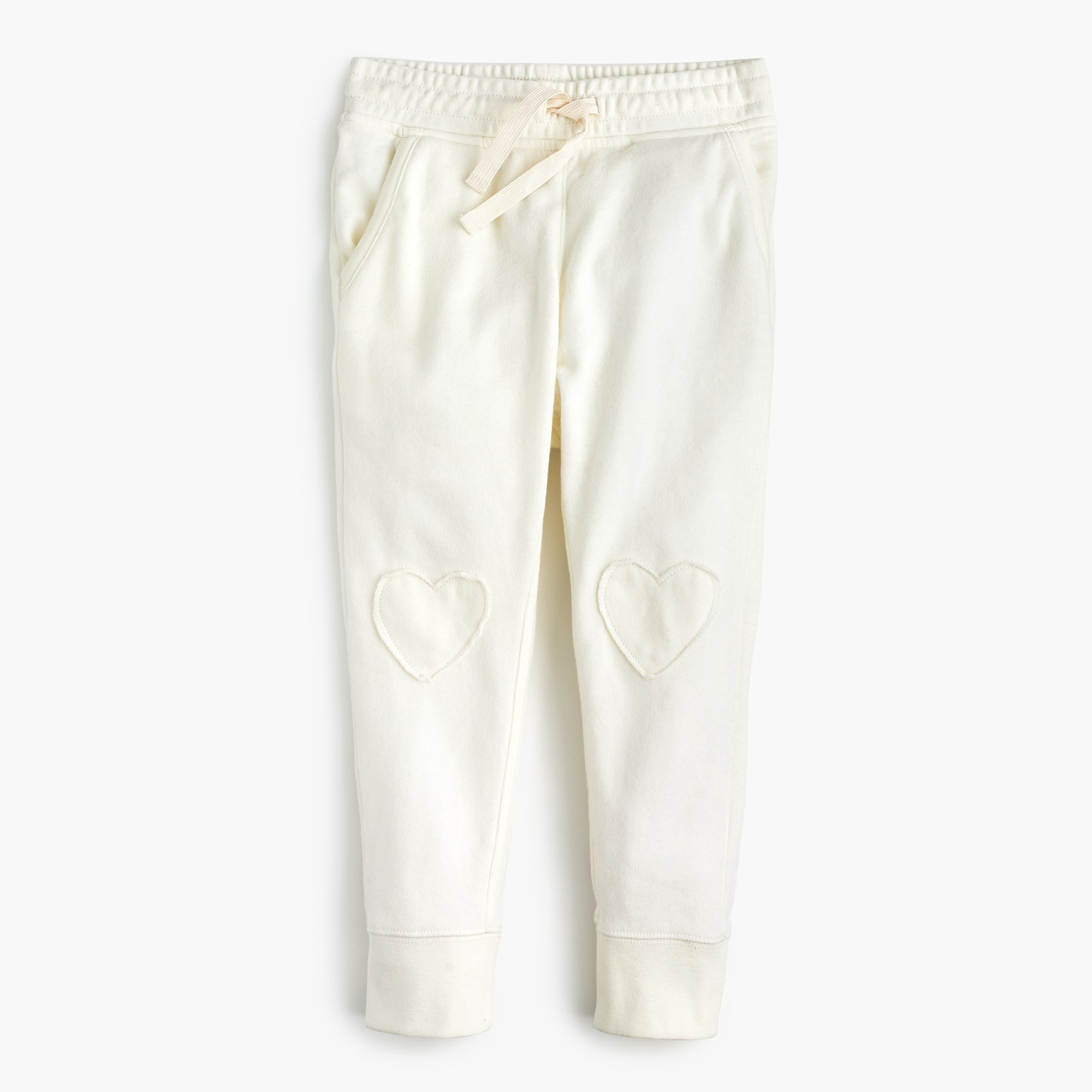 Girls' sweatpants with hearts on knees girl pants c