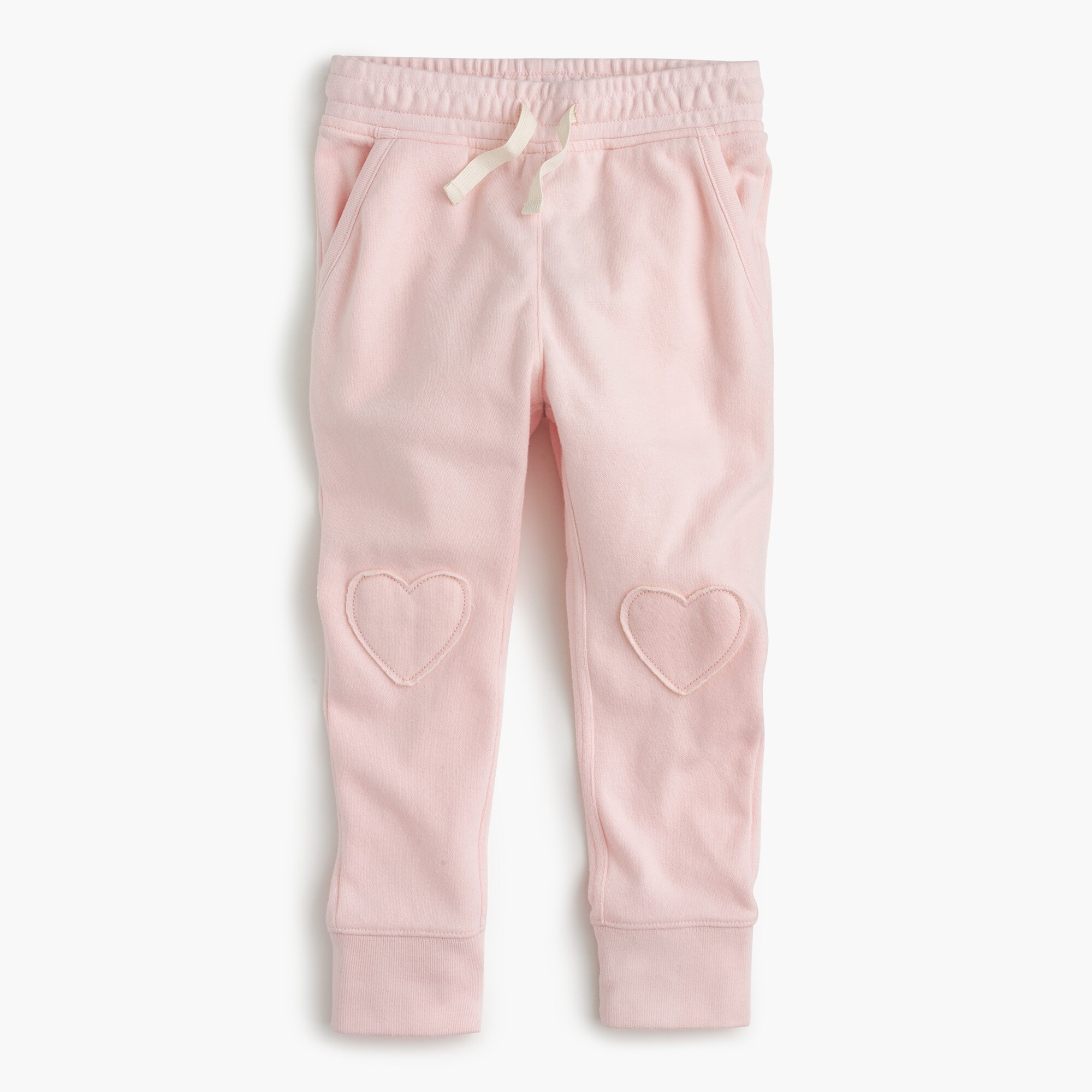 Image 2 for Girls' sweatpants with hearts on knees