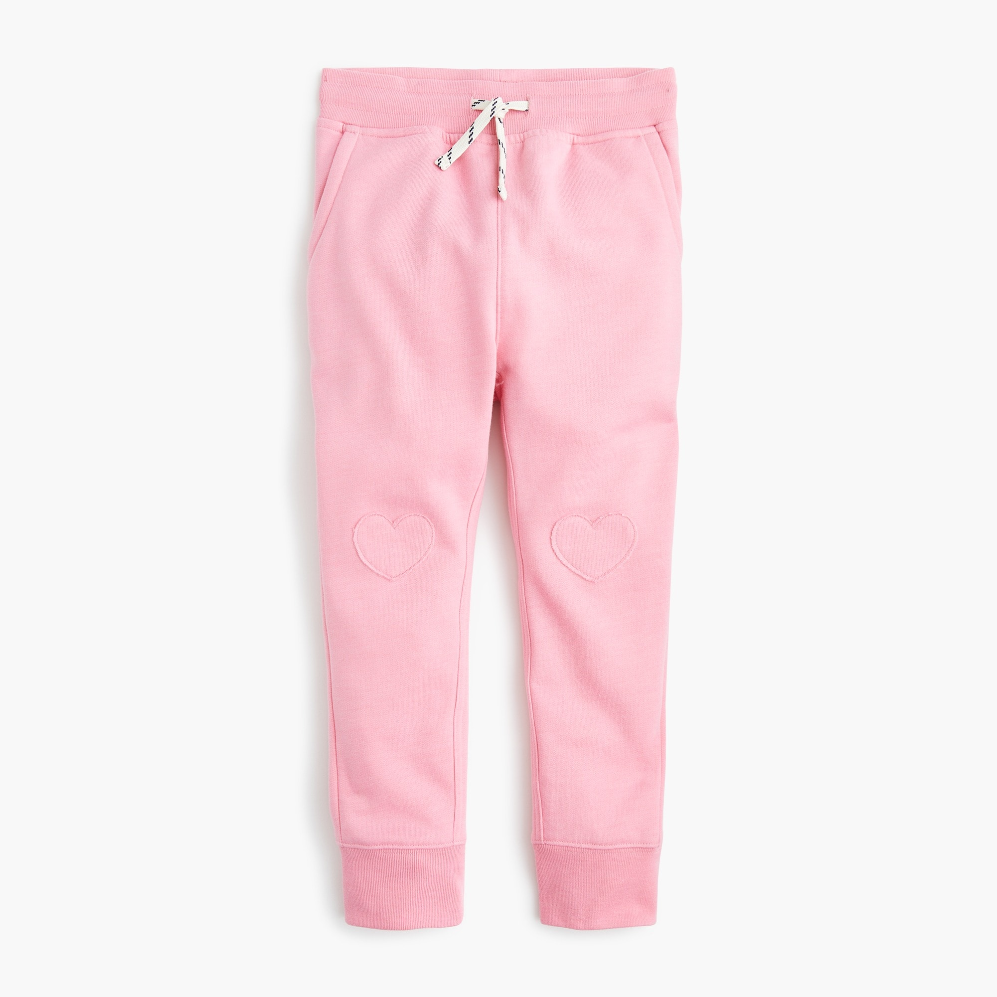 girls Girls' sweatpants with hearts on knees