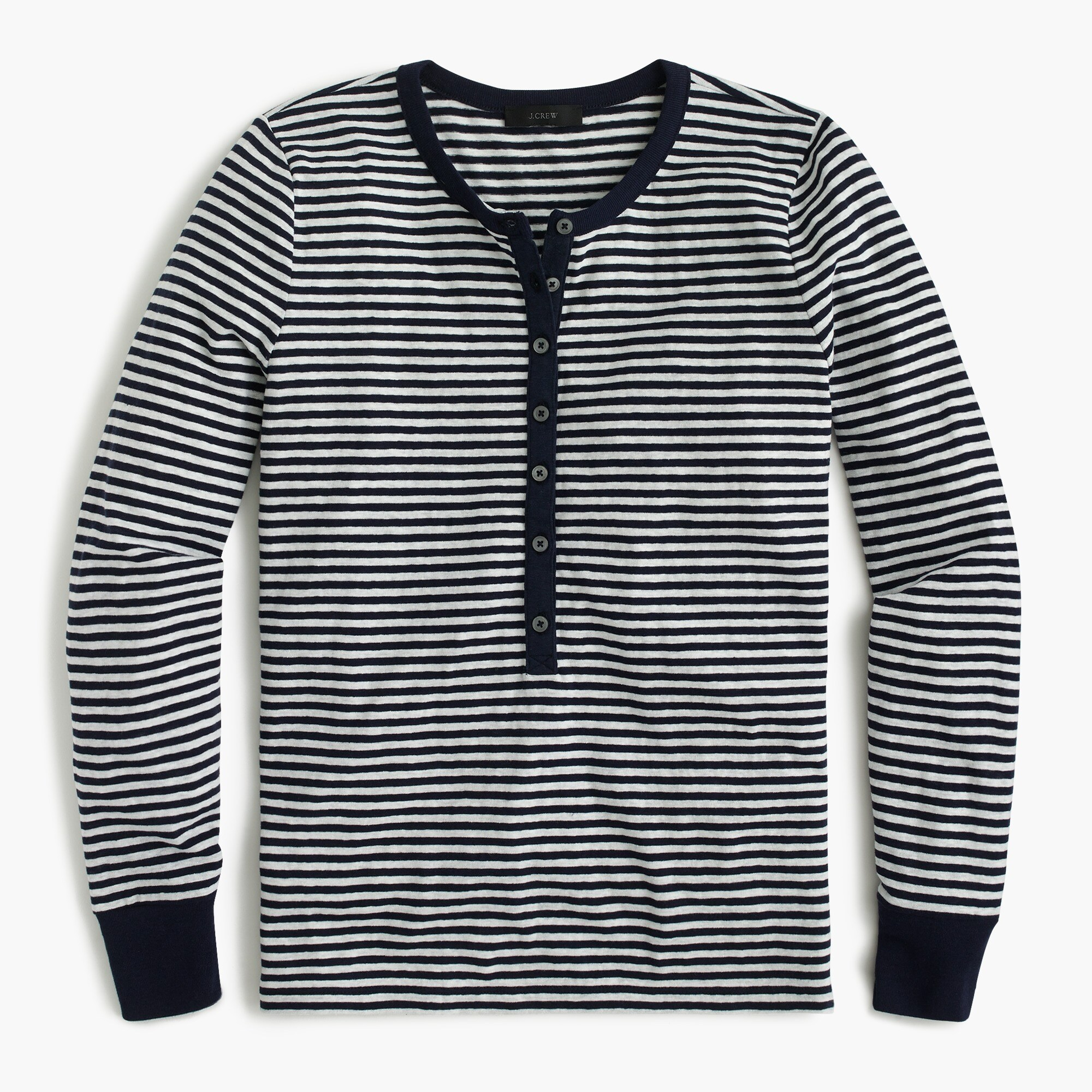 women's striped henley t-shirt - women's knits