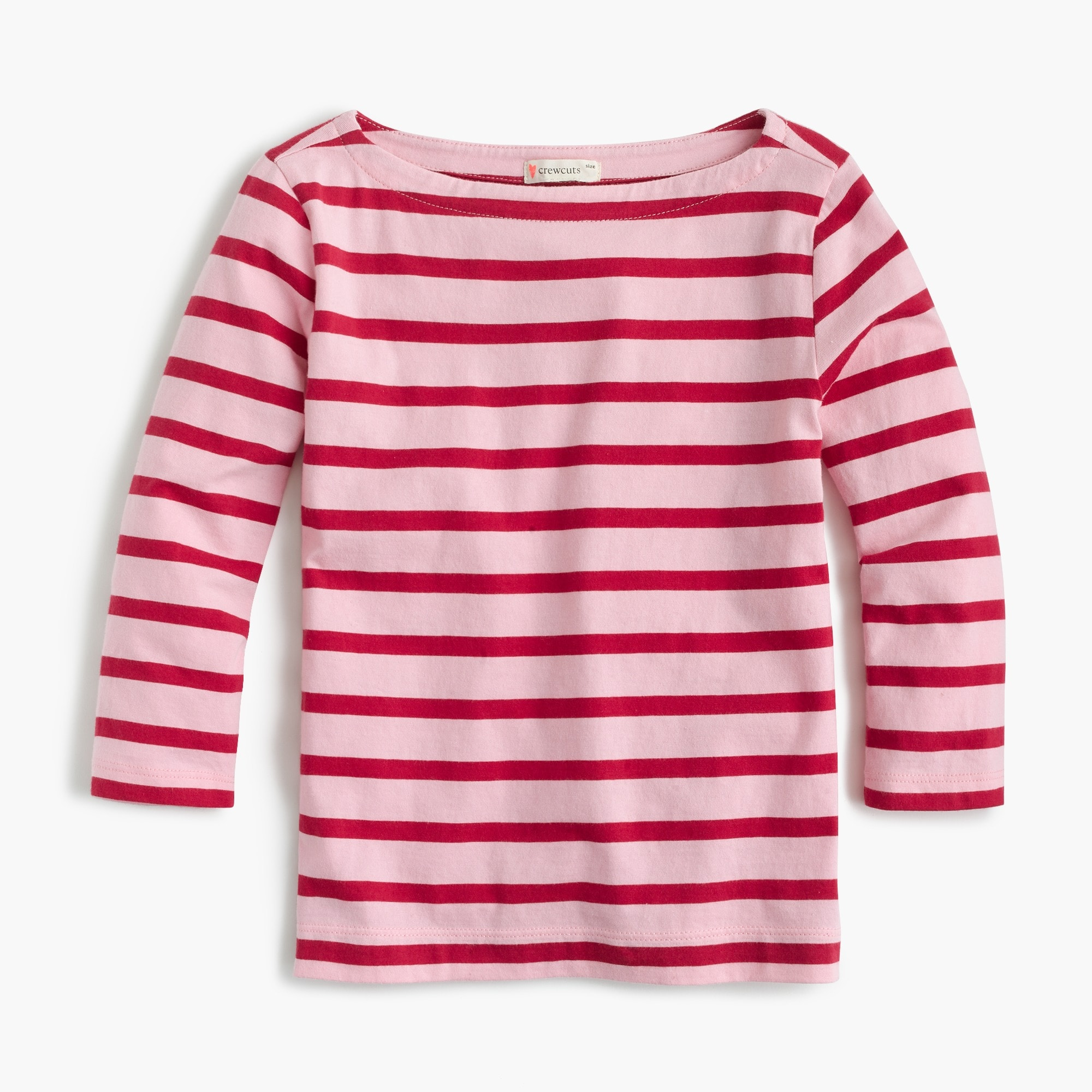 Girls' classic striped T-shirt