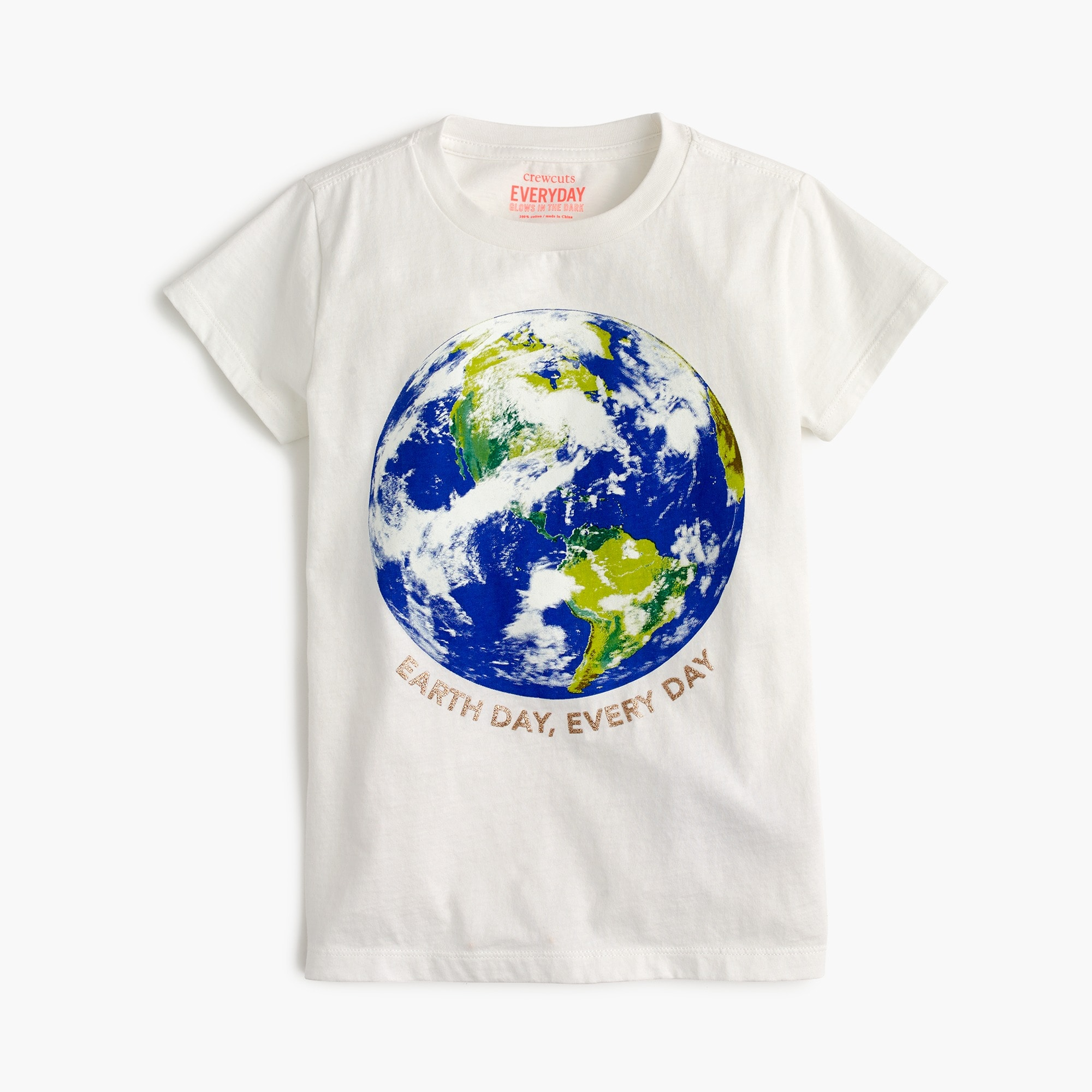 "Girls' ""Earth Day"" T-shirt girl graphics shop c"