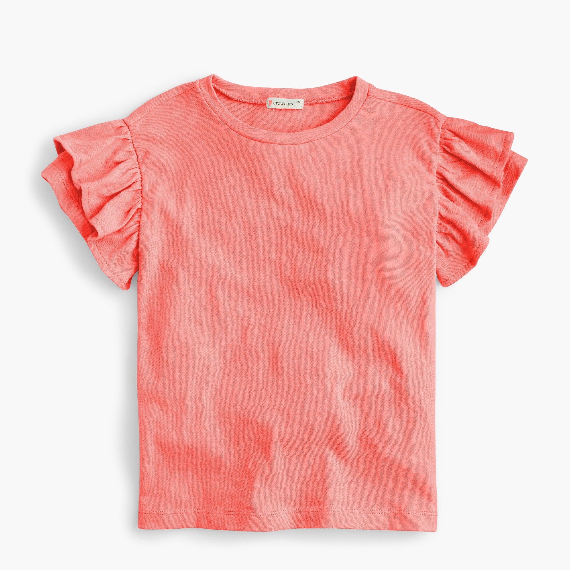 Girls' flutter-sleeve T-shirt girl new arrivals c
