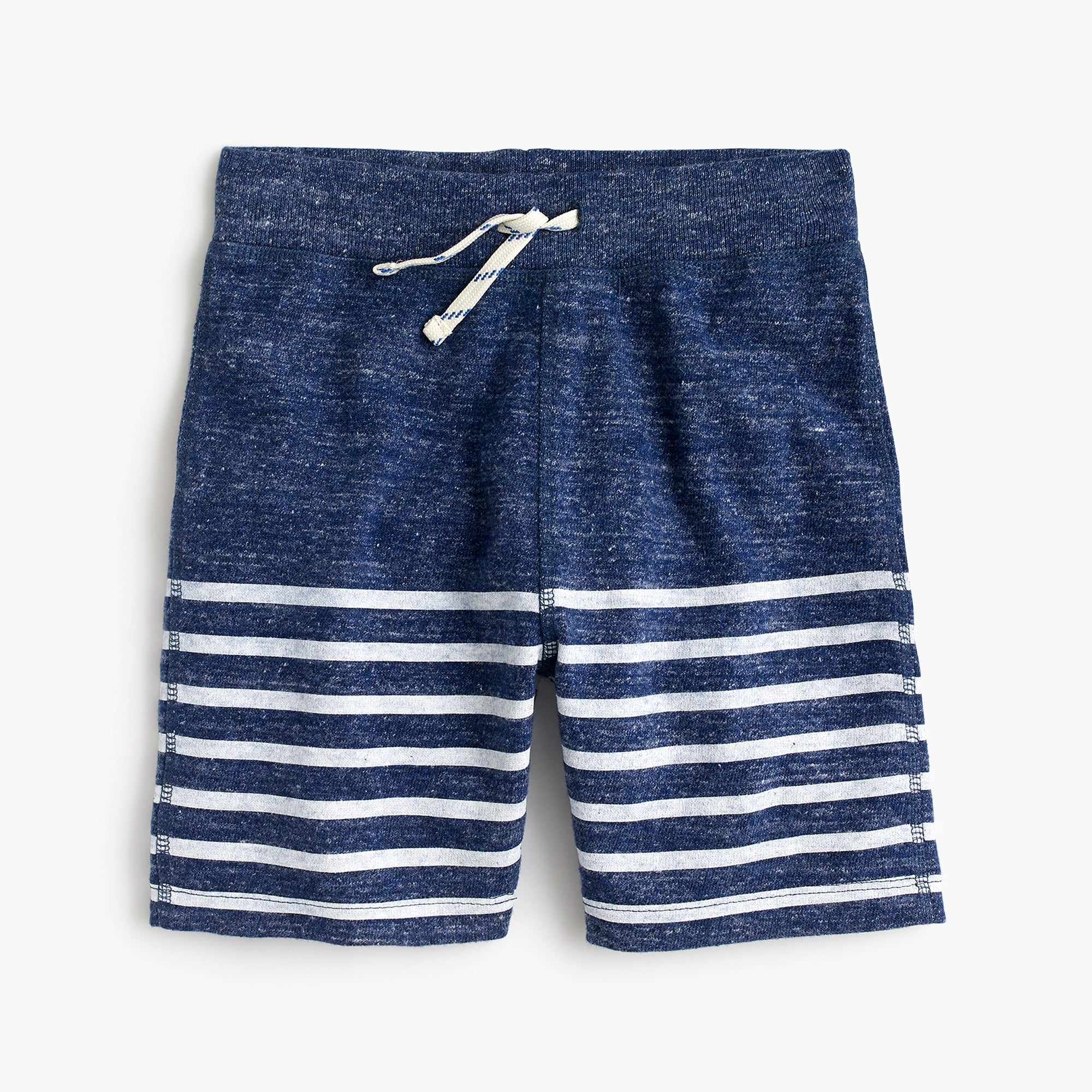 Boys' sweatshort in placed stripe