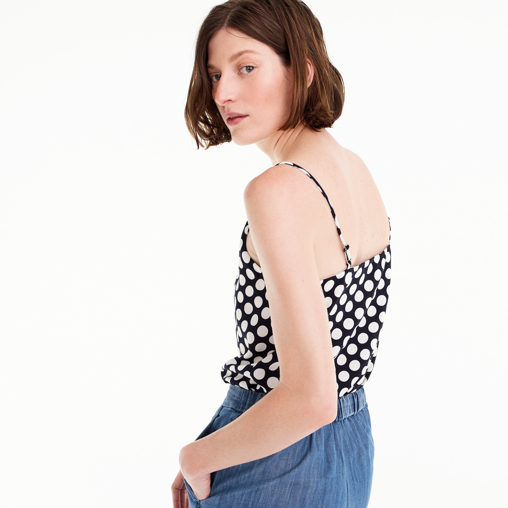 Petite V-neck camisole in dot