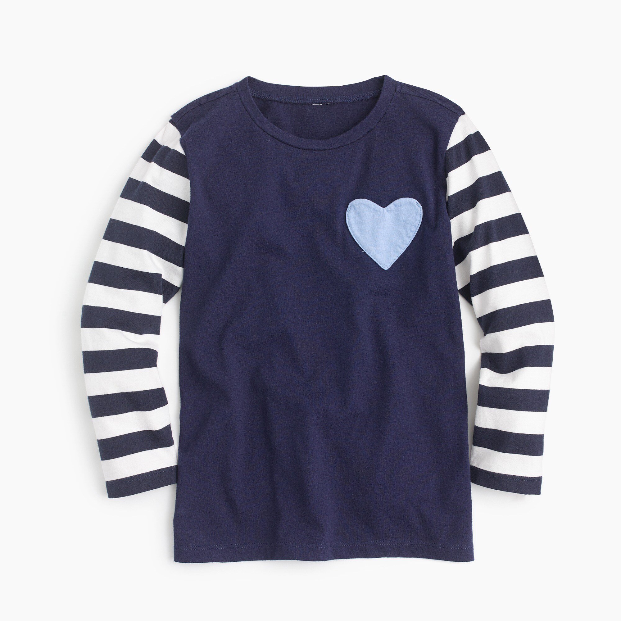 Girls' heart-pocket T-shirt girl new arrivals c