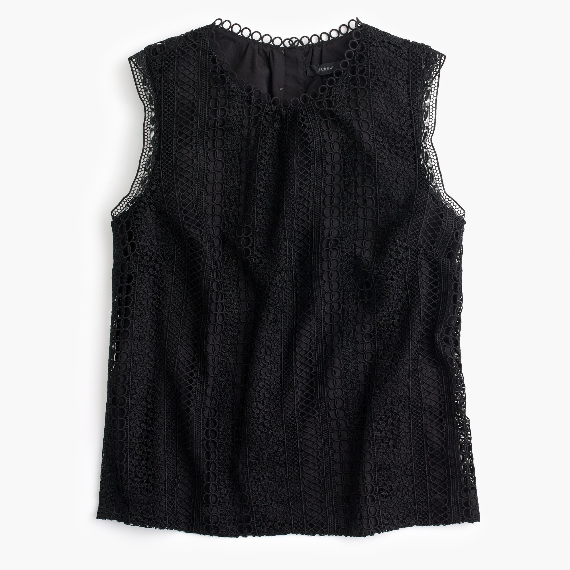 women's petite mixed lace top - women's shirts