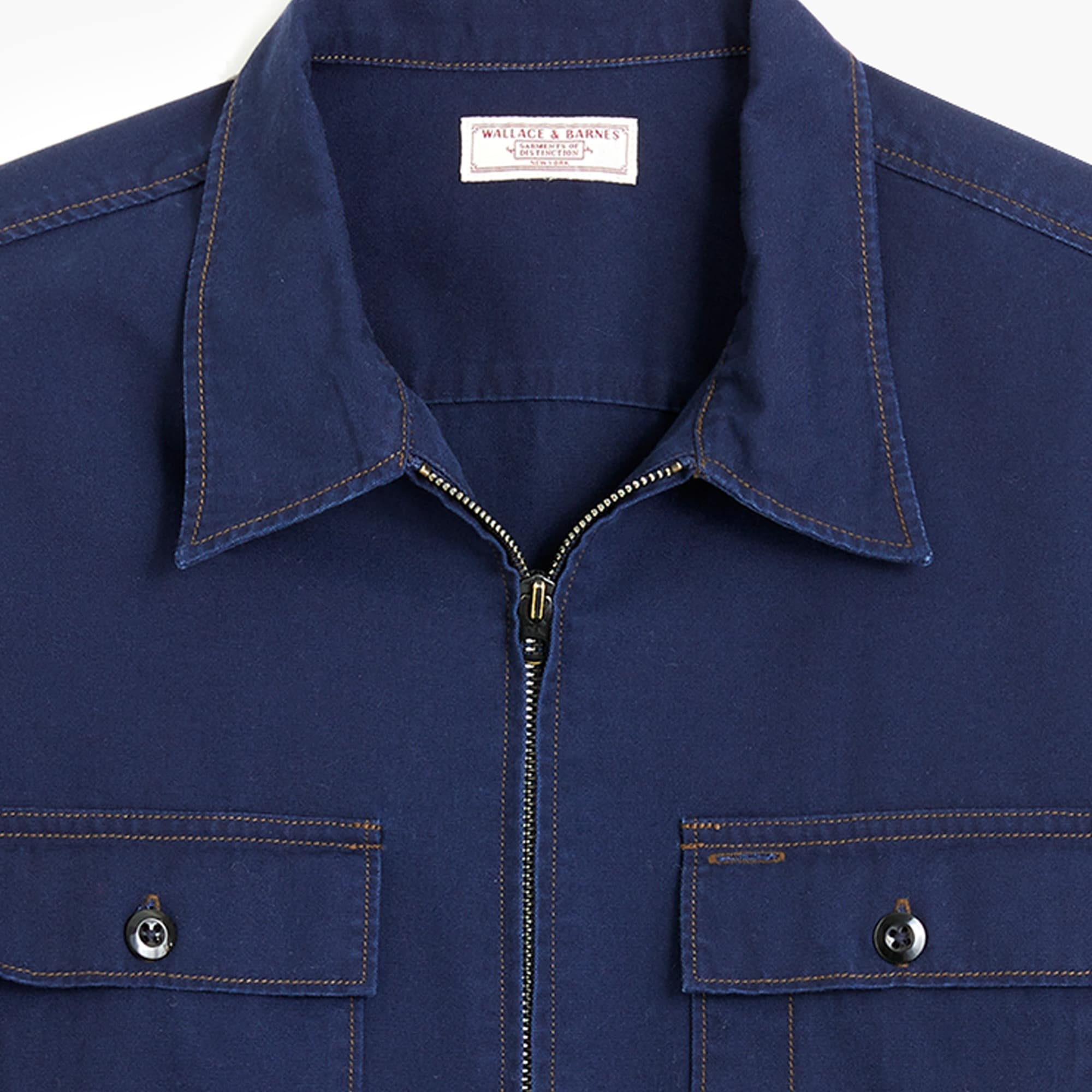 Wallace & Barnes canvas zip-front workshirt