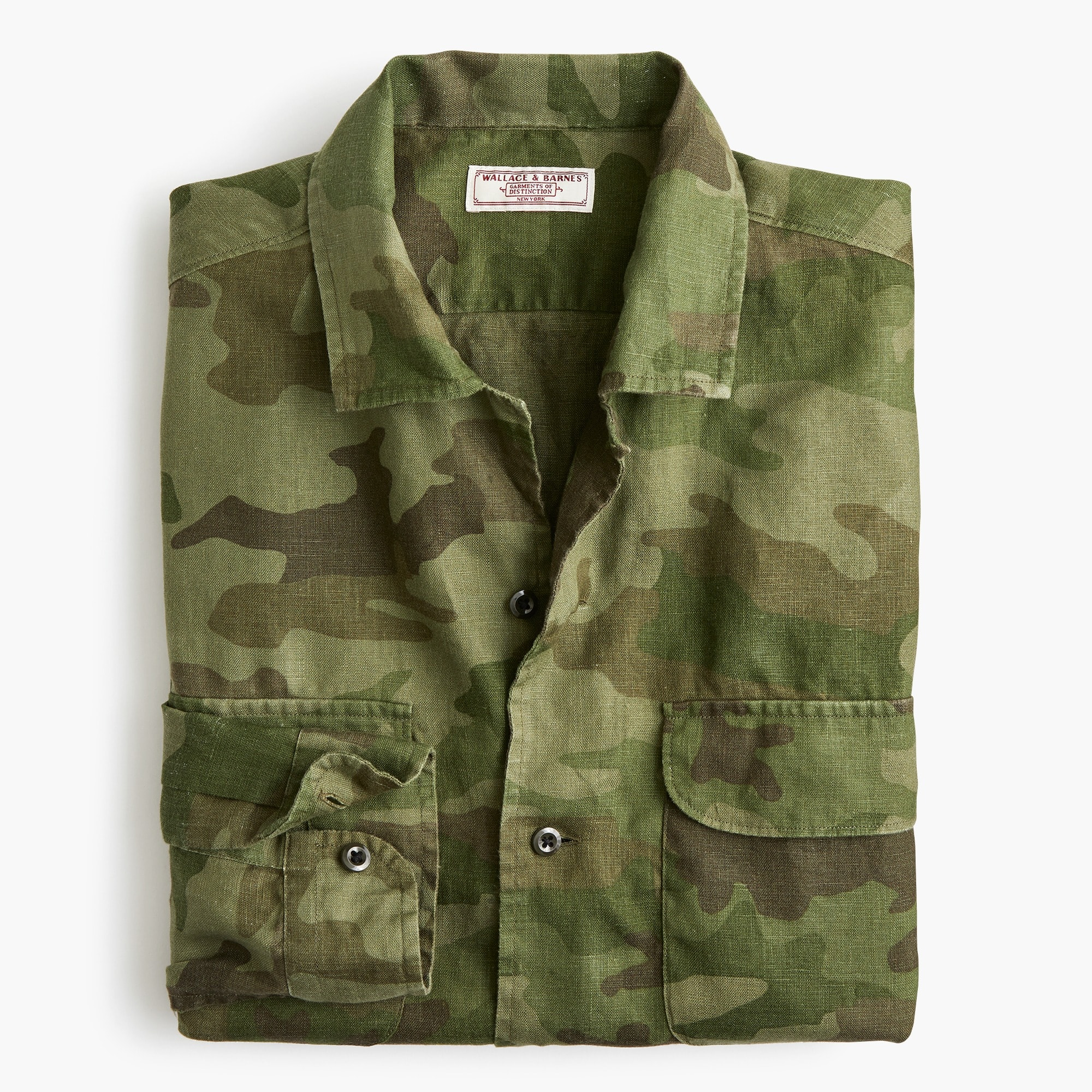 Image 5 for Wallace & Barnes camp-collar shirt in camo