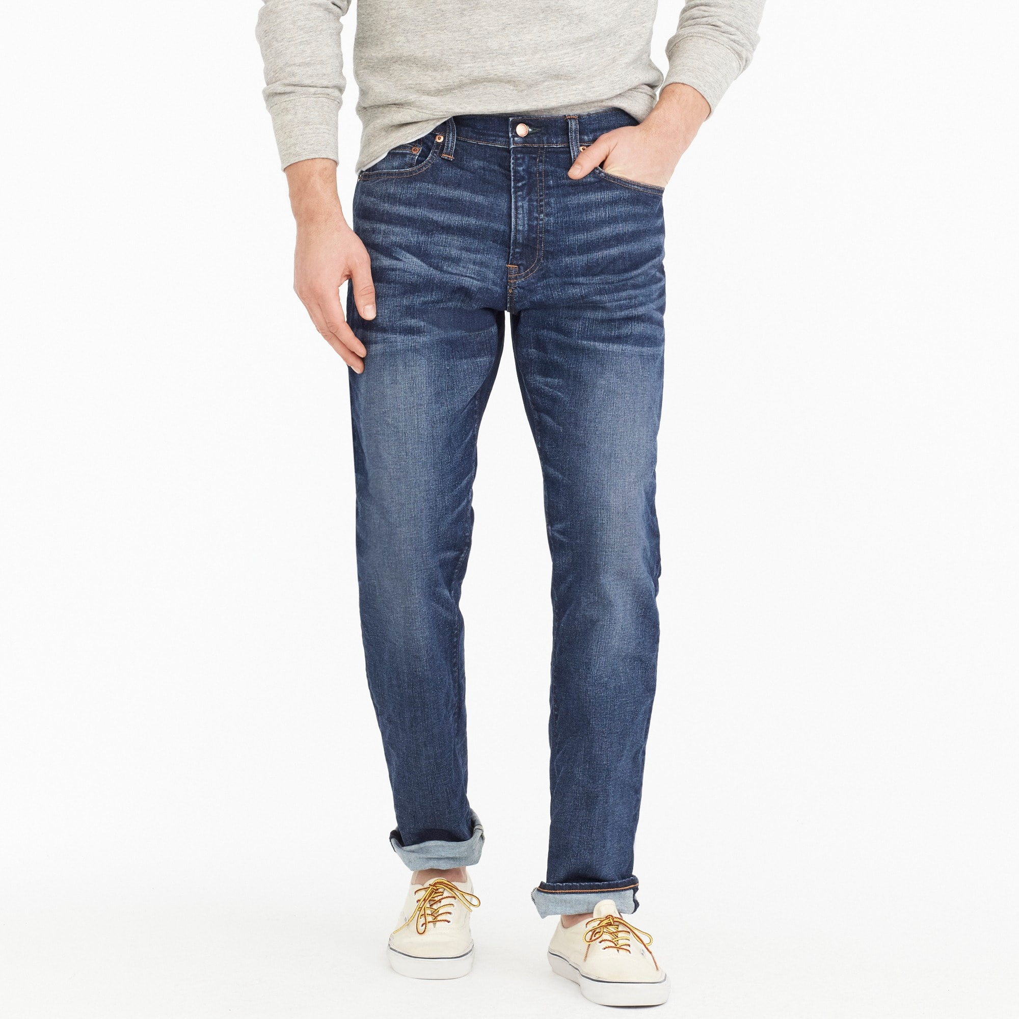 1040 Athletic-fit stretch jean in Dalton wash men denim c