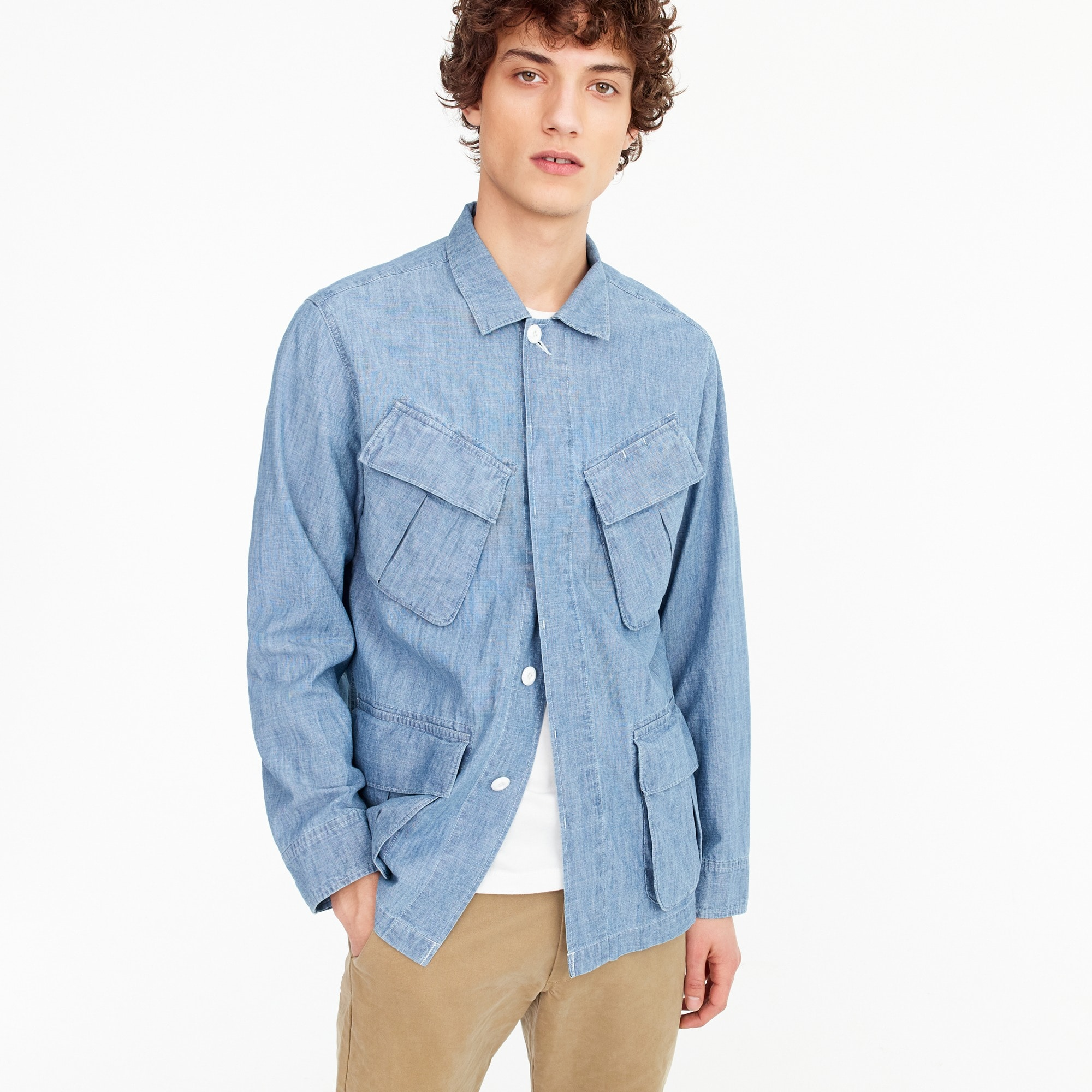 Wallace & Barnes chore jacket in chambray men new arrivals c