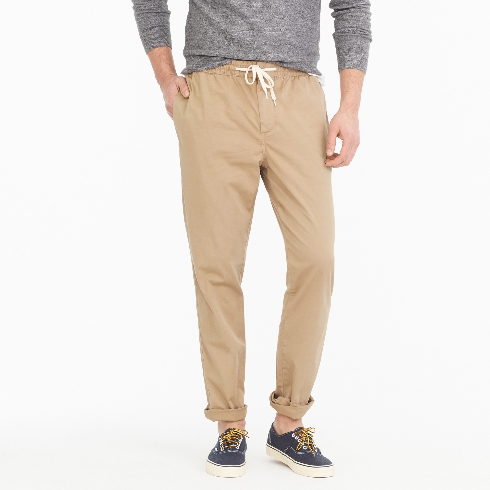 Image 1 for Drawstring pant in chino