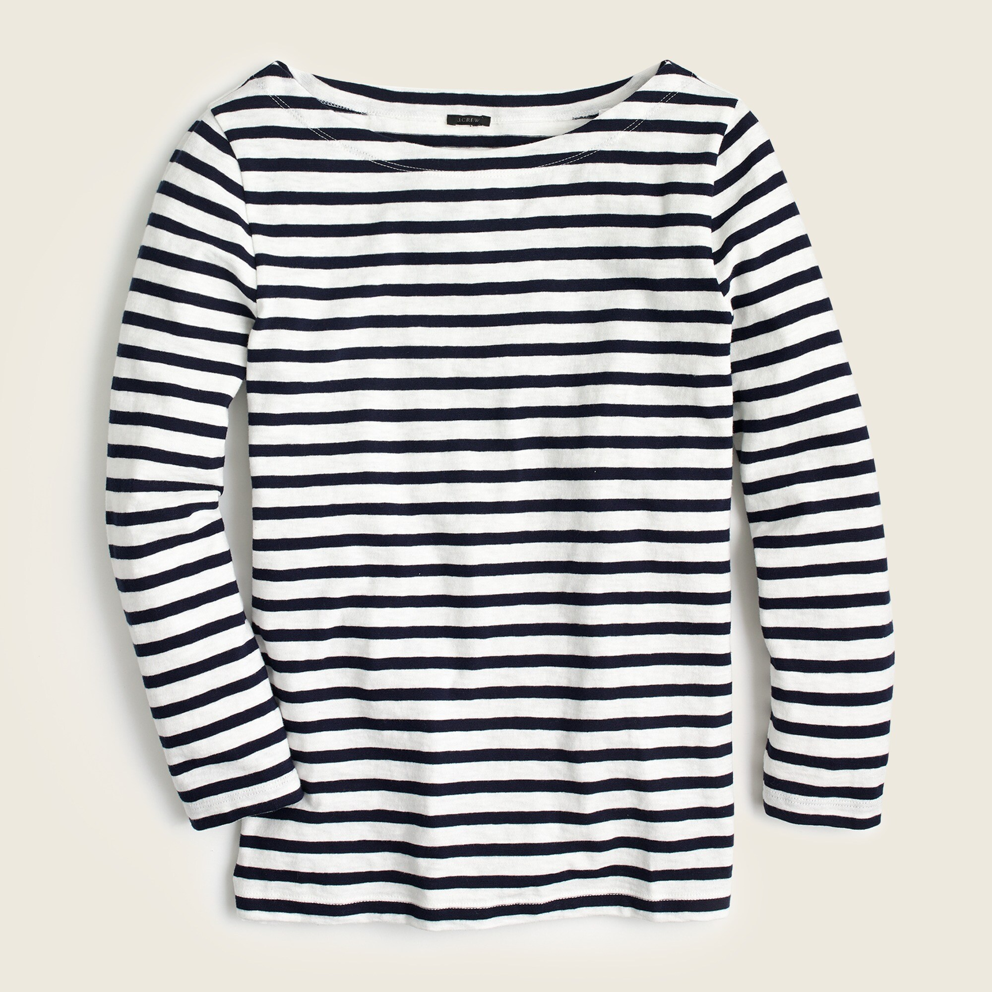 Image 4 for Striped boatneck T-shirt