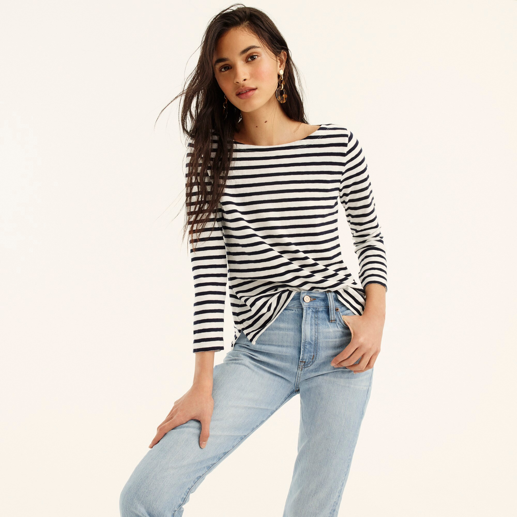 Image 1 for Striped boatneck T-shirt