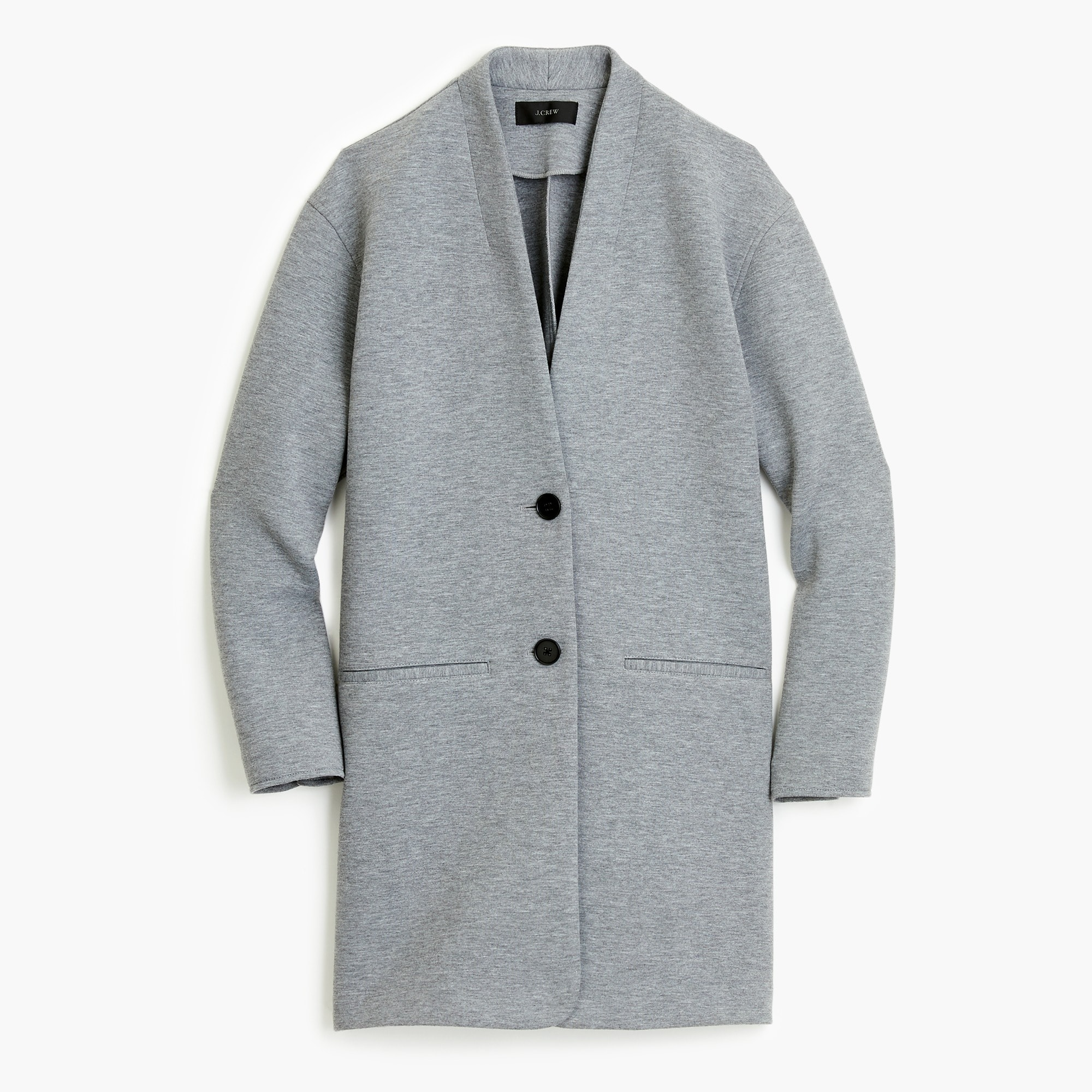 Drapey heather grey jacket