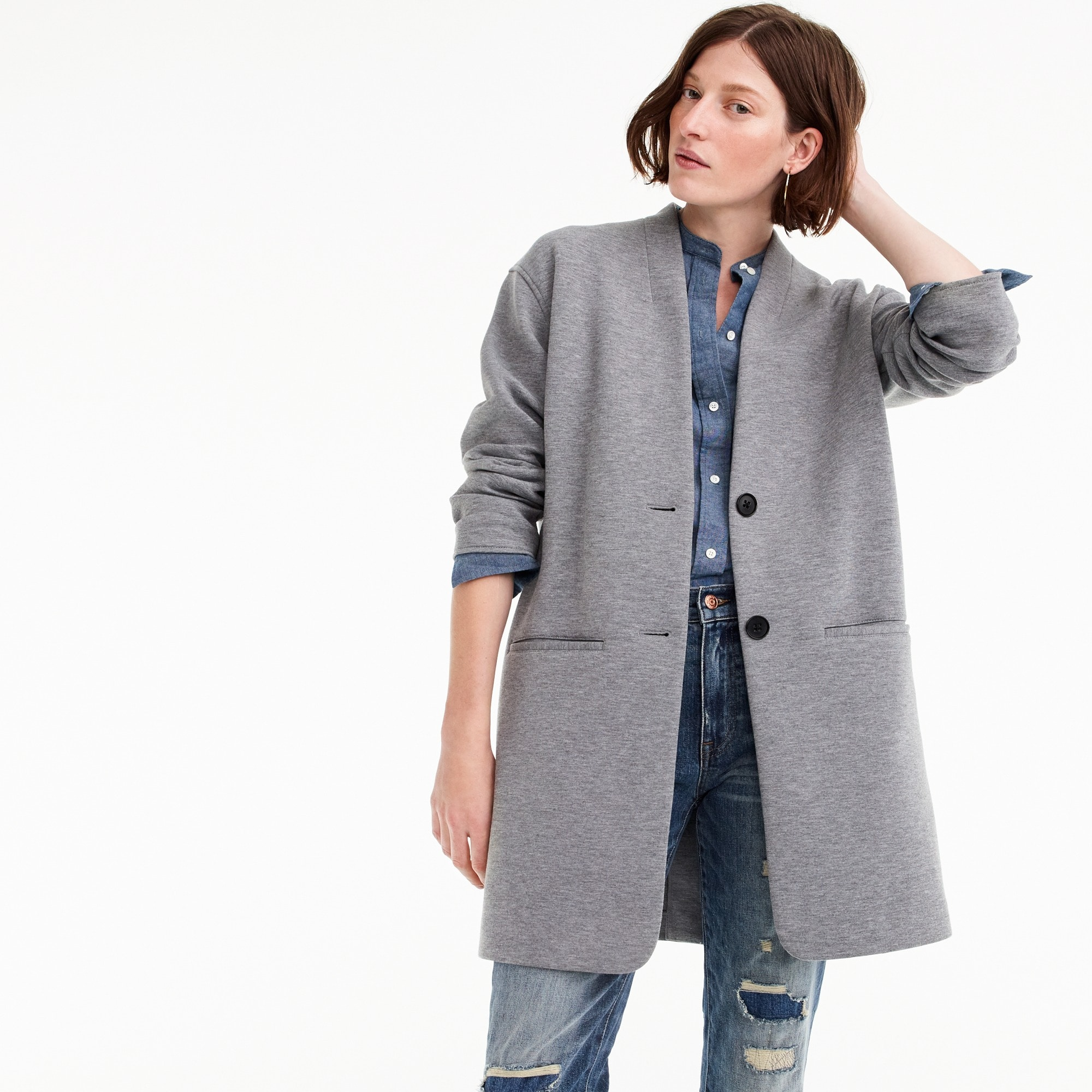 Image 1 for Drapey heather grey jacket