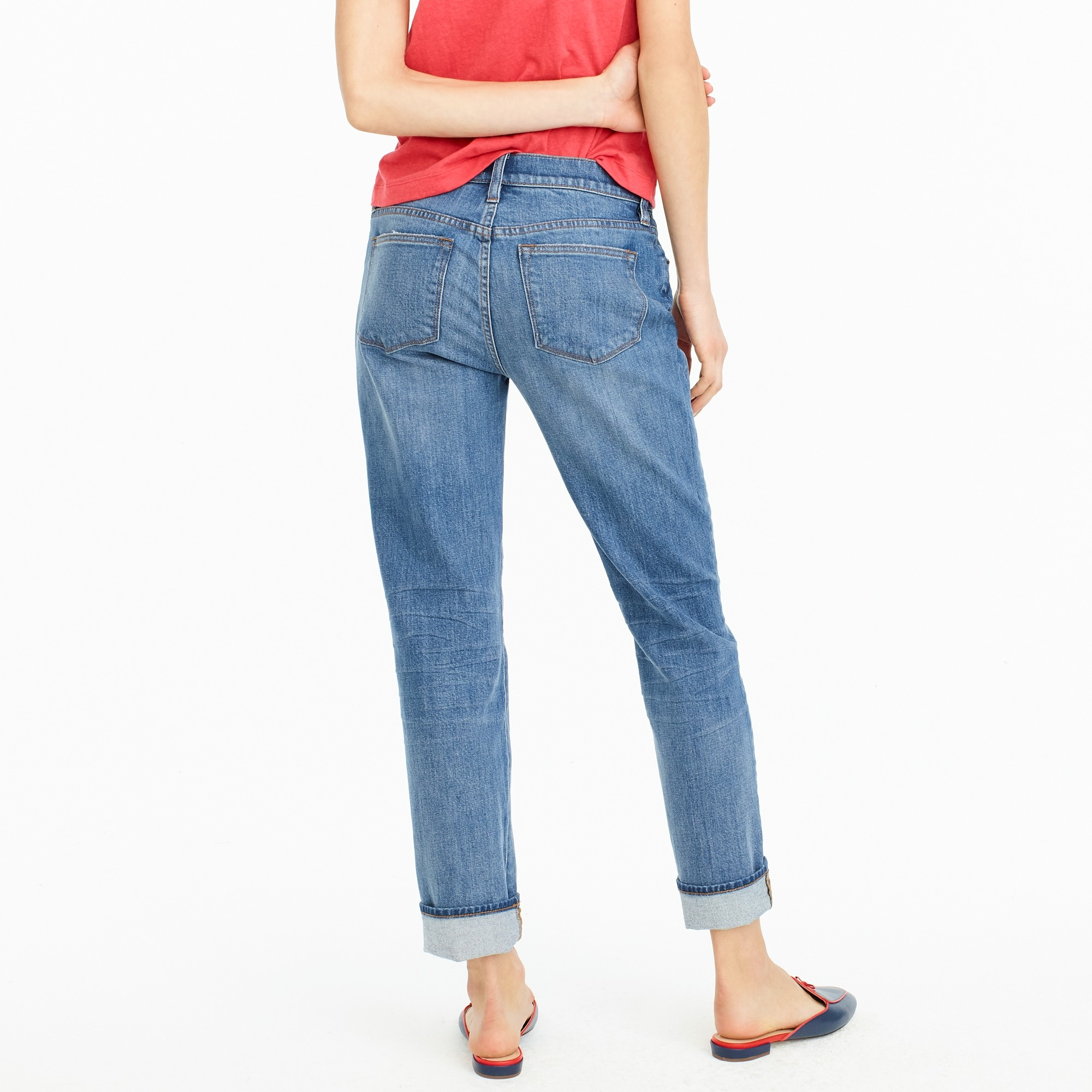 Petite slim boyfriend jean in Creston wash