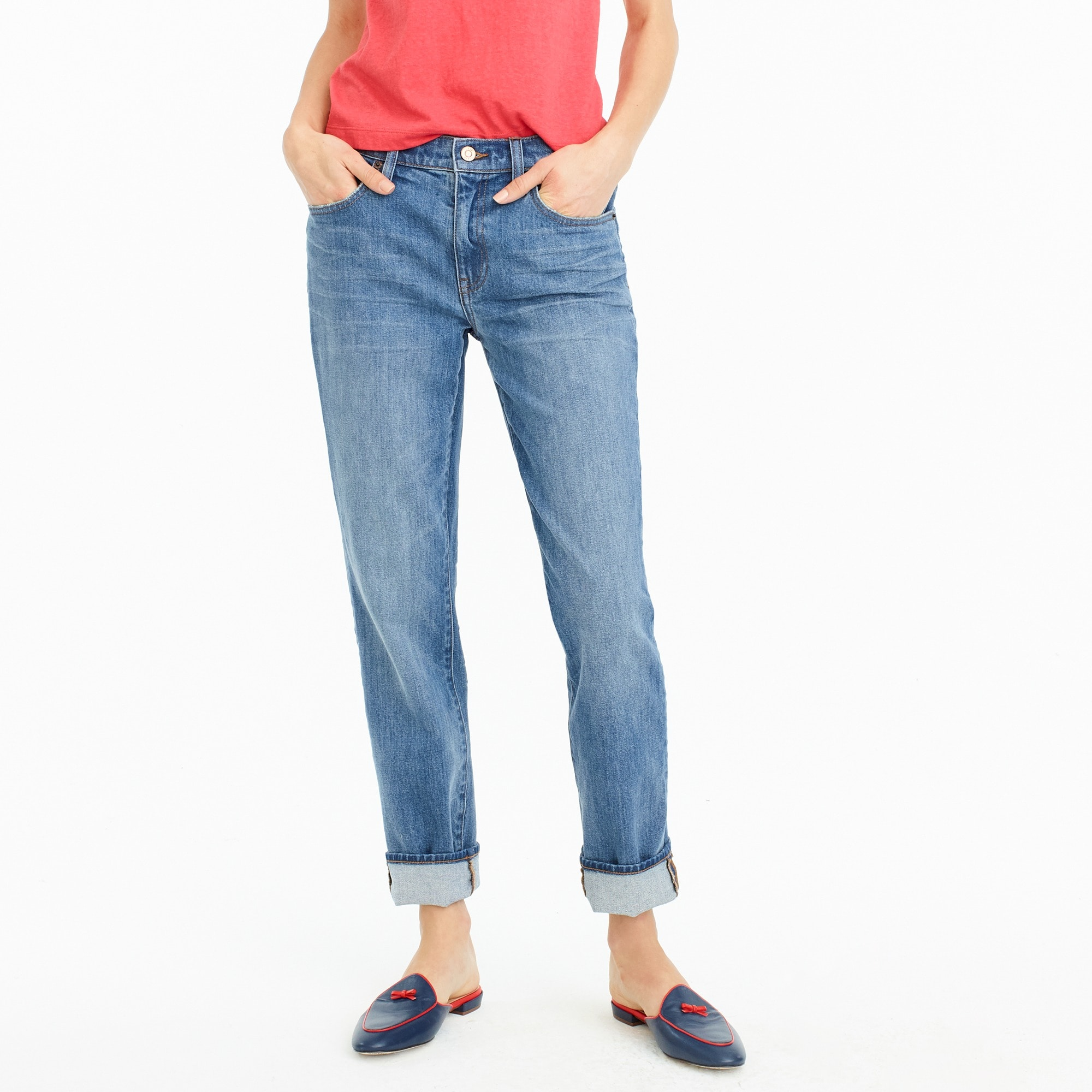 women's petite slim boyfriend jean in creston wash - women's pants