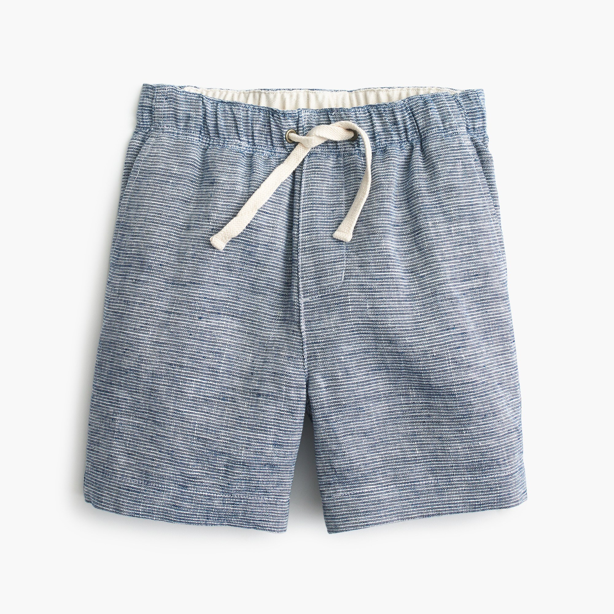 boys Boys' dock short in striped cotton linen