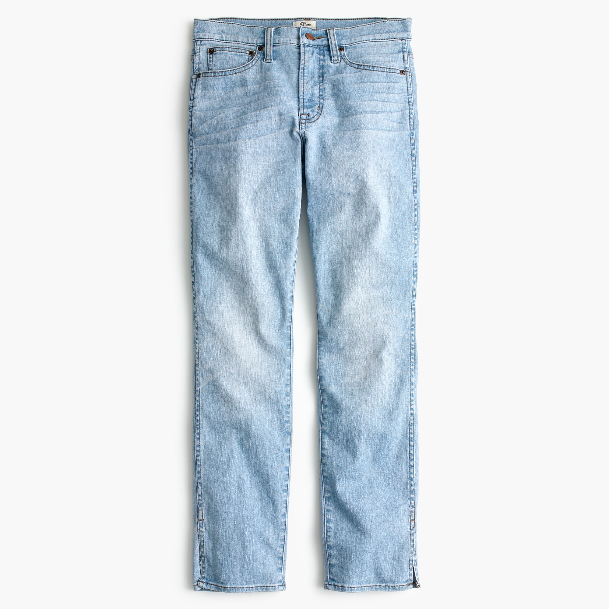 Tall vintage straight jean with slit hems