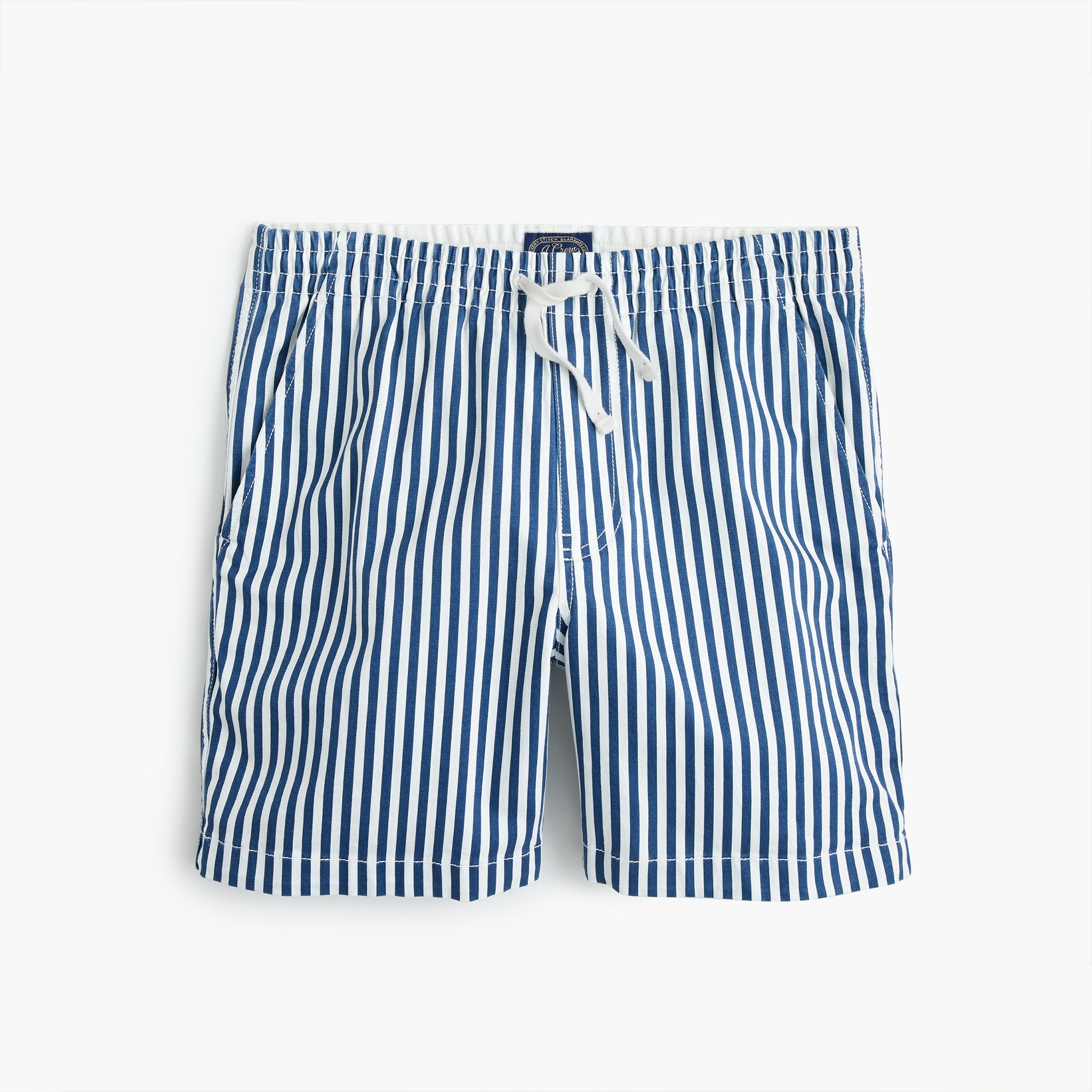 men's stretch dock short in cotton stripe - men's shorts