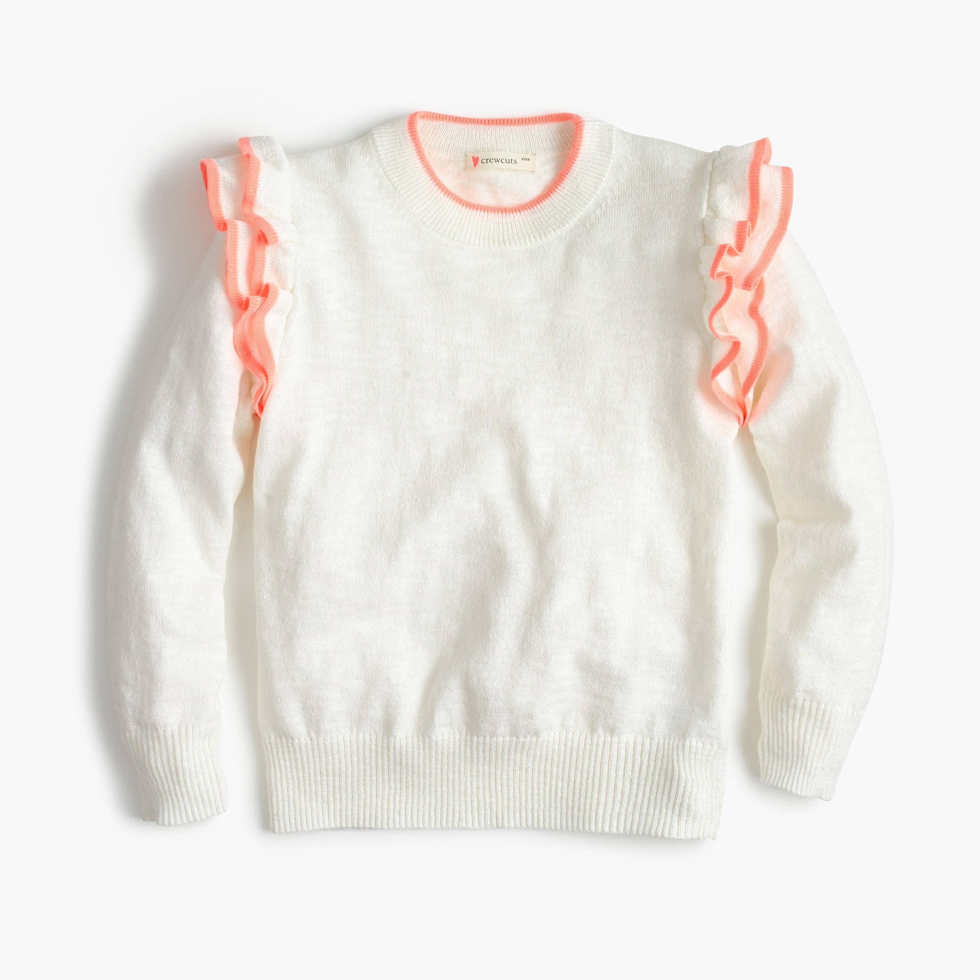 Girls' ruffle popover sweater girl new arrivals c