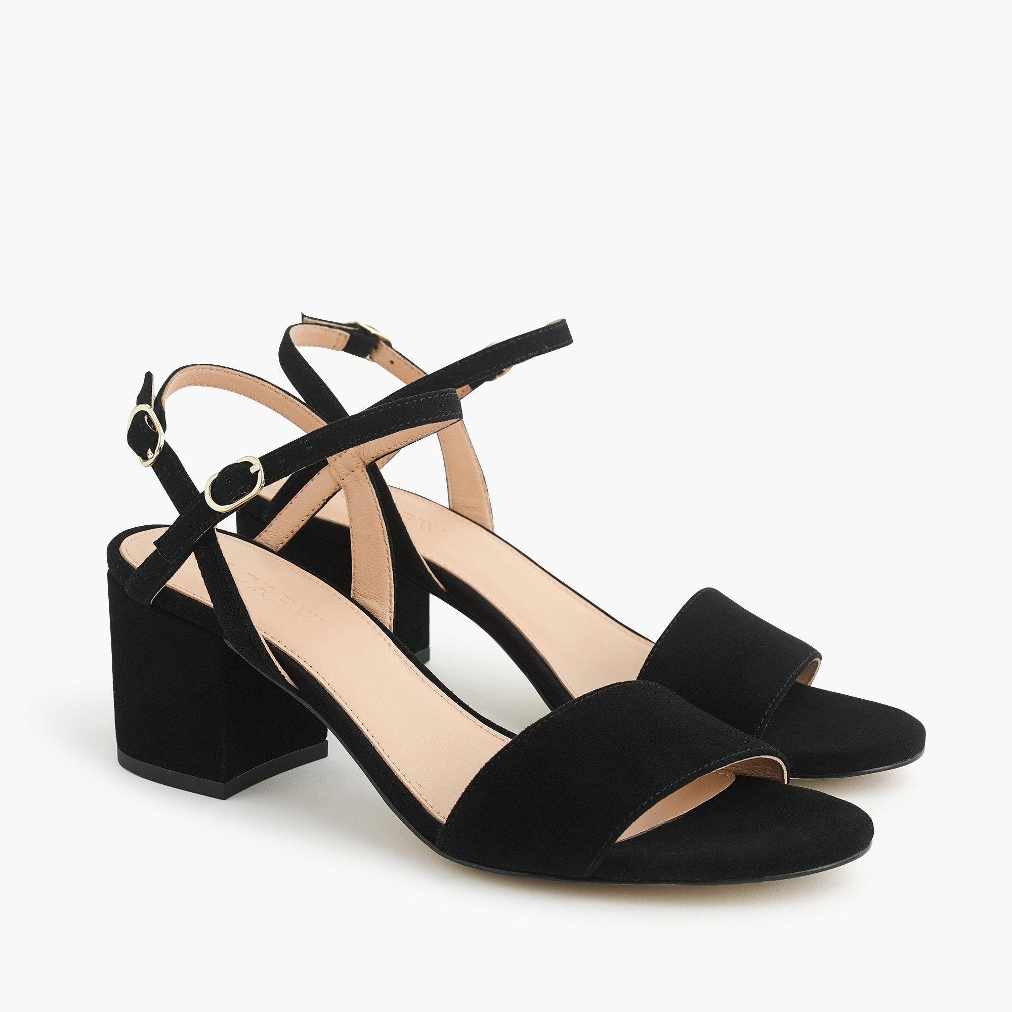 Strappy block-heel sandals (60mm) in suede women shoes c