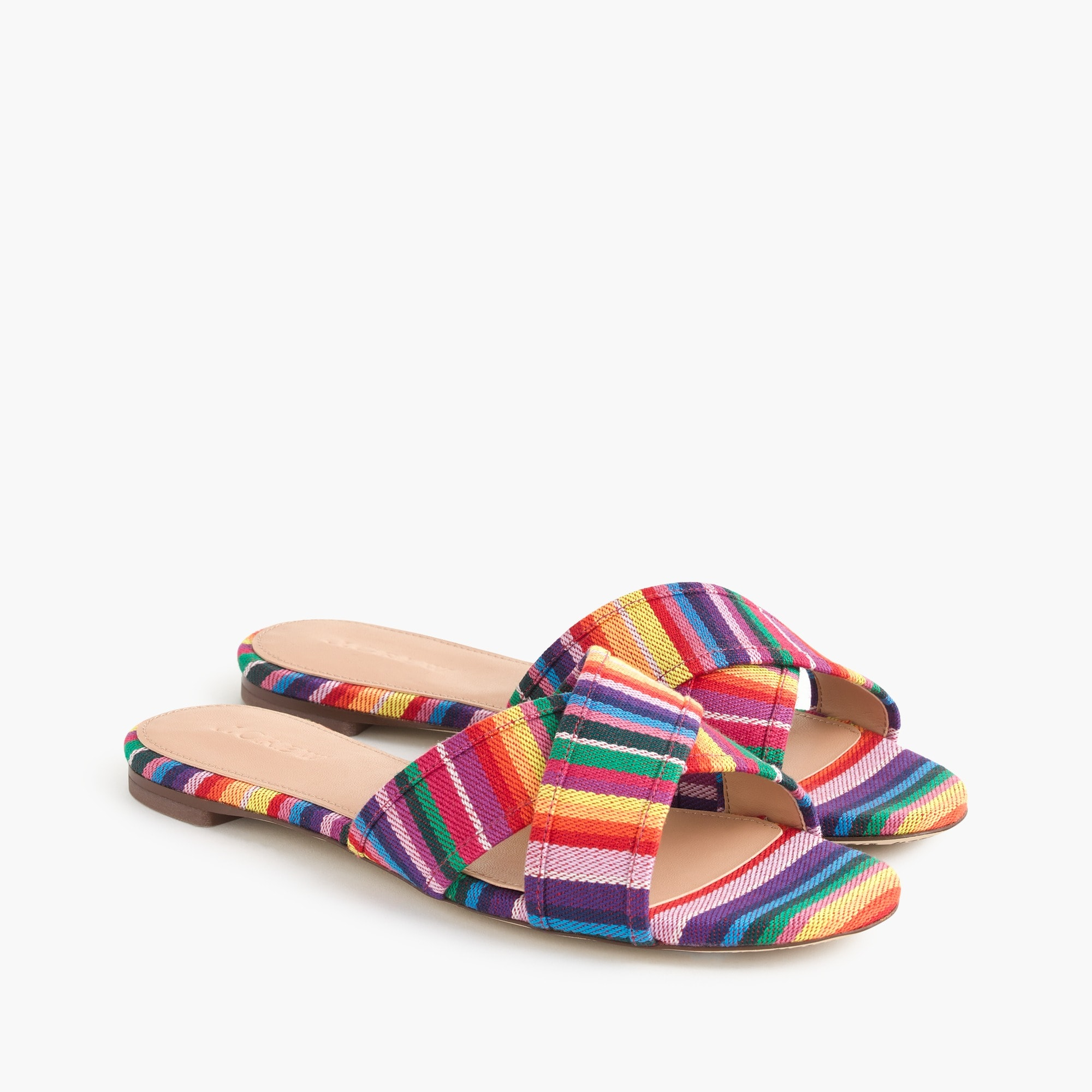 Multistripe Cora crisscross sandals