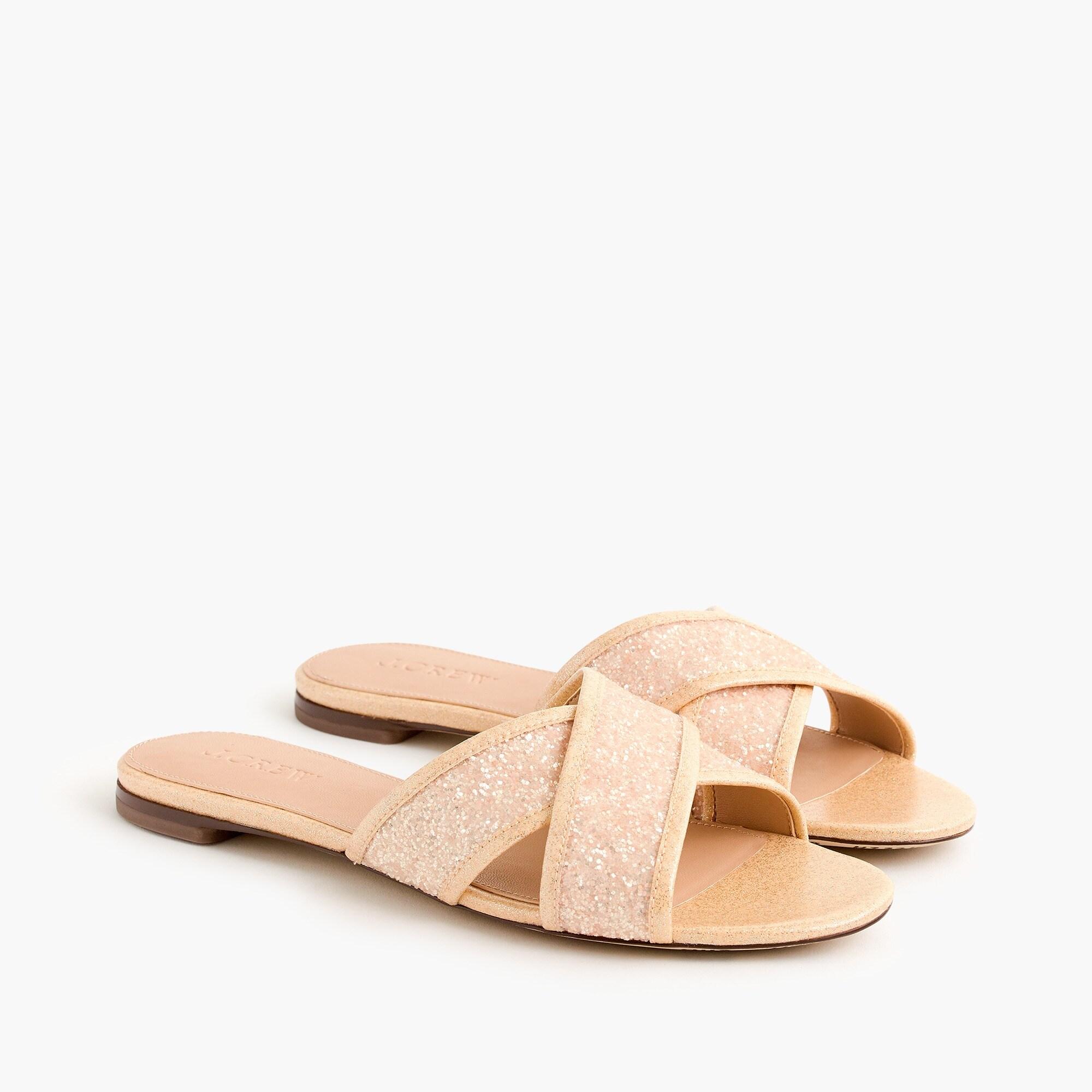 women's glitter cora crisscross sandals - women's sandals