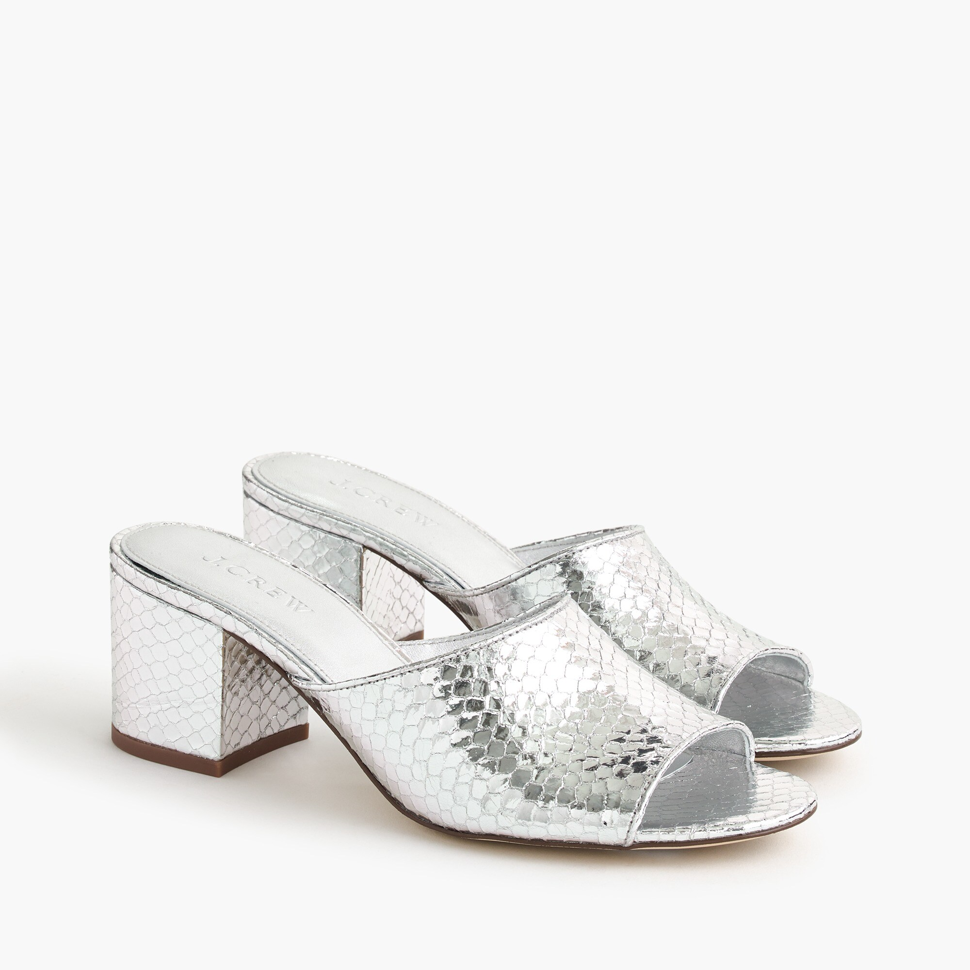 All-day mule (60mm) in metallic snakeskin women new arrivals c