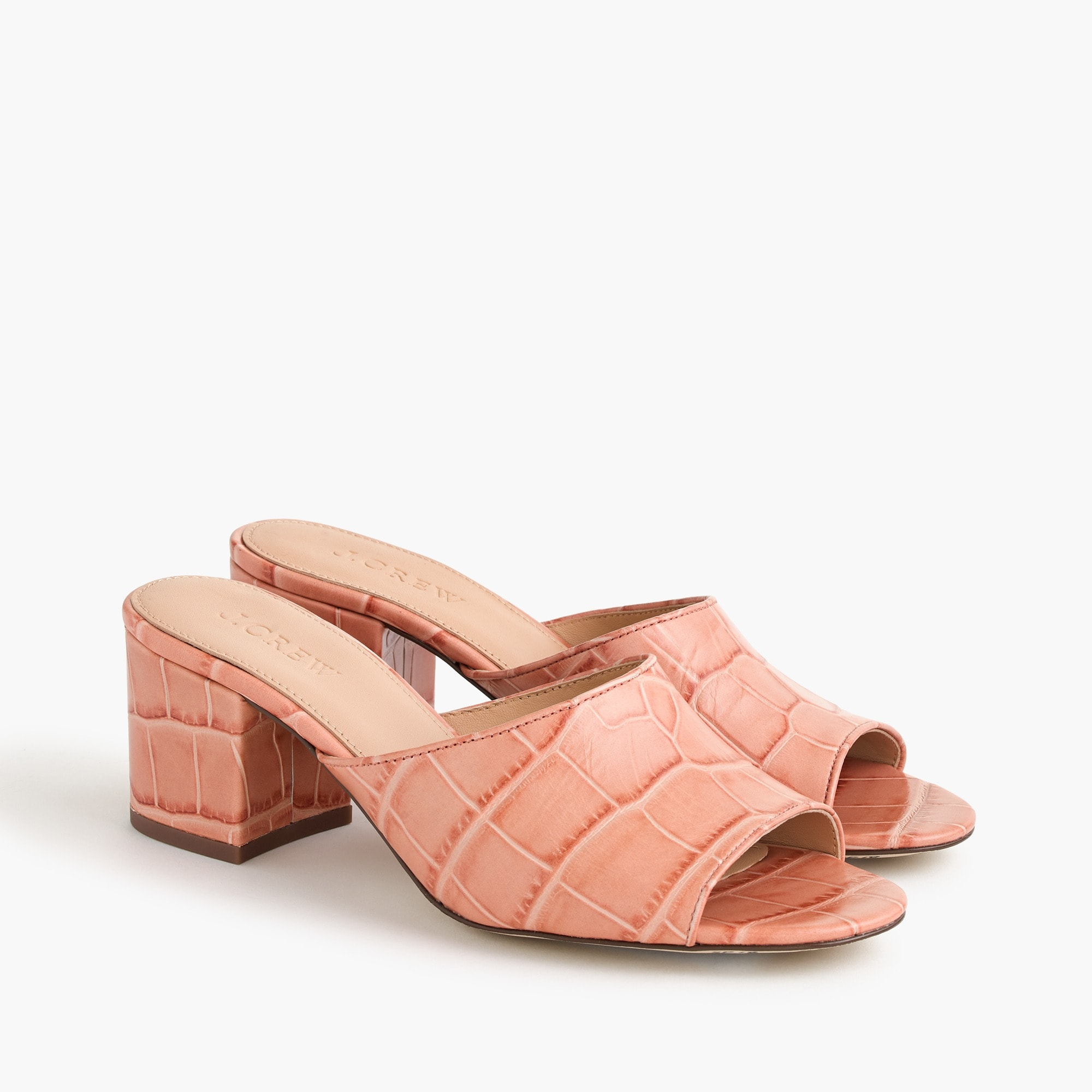 All-day mule (60mm) in croc-embossed leather women new arrivals c